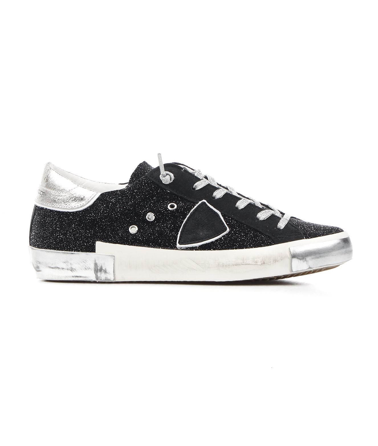 Philippe Model PHILIPPE MODEL WOMEN'S PRLDGG04 BLACK OTHER MATERIALS SNEAKERS
