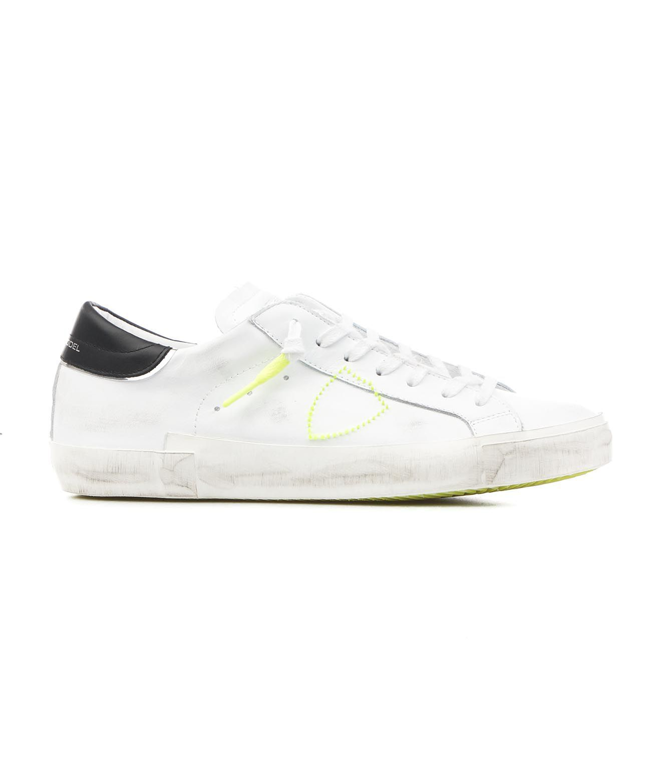 Philippe Model Leathers PHILIPPE MODEL MEN'S PRLUVBF1 WHITE OTHER MATERIALS SNEAKERS