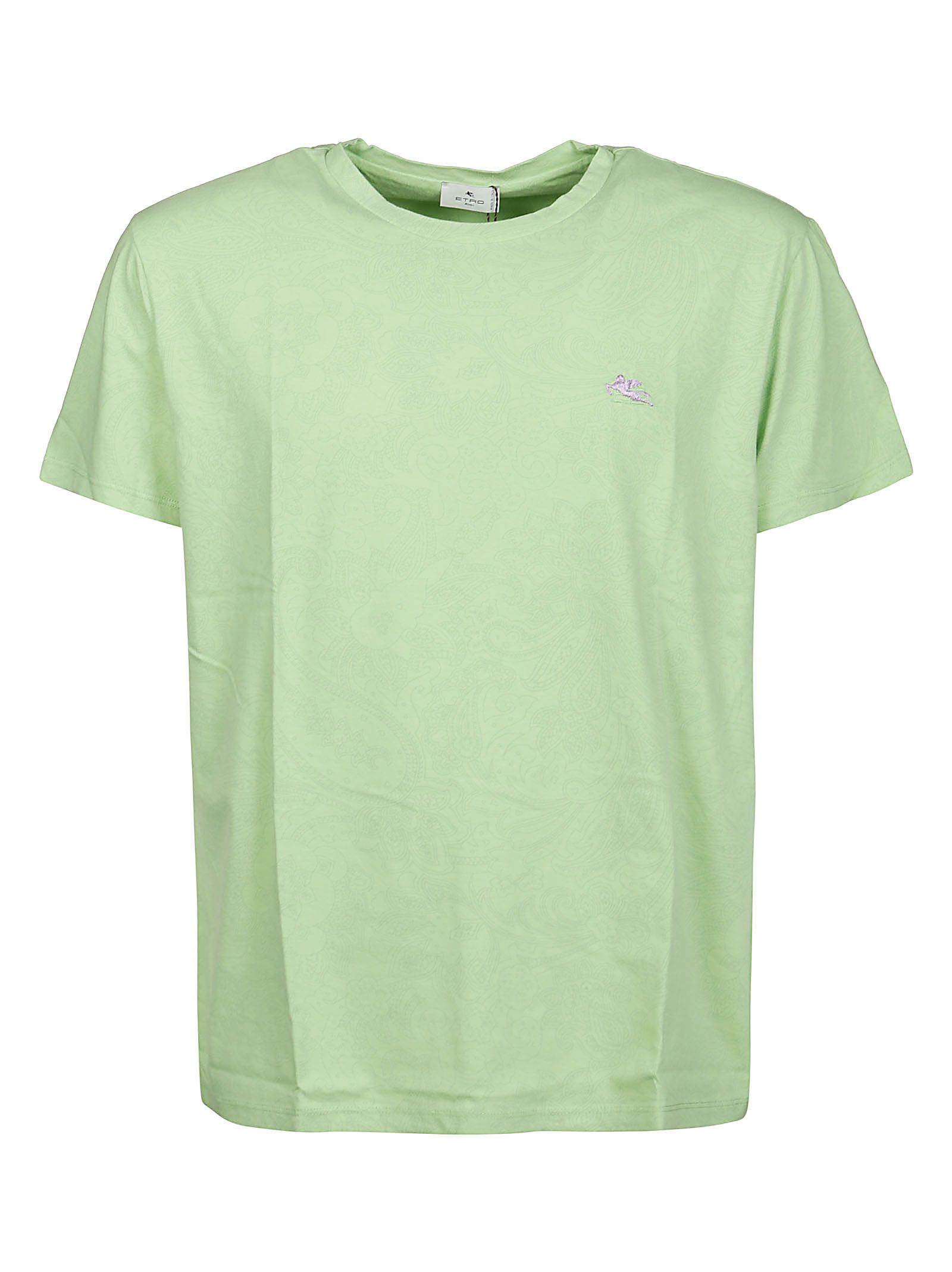 Etro Cottons ETRO MEN'S 1Y02099800501 GREEN OTHER MATERIALS T-SHIRT
