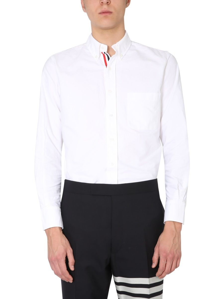 Thom Browne Downs THOM BROWNE MEN'S MWL010E06177100 WHITE OTHER MATERIALS SHIRT