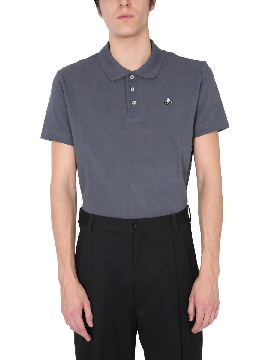 Moose Knuckles Cottons MOOSE KNUCKLES MEN'S M10MT712180 GREY OTHER MATERIALS POLO SHIRT