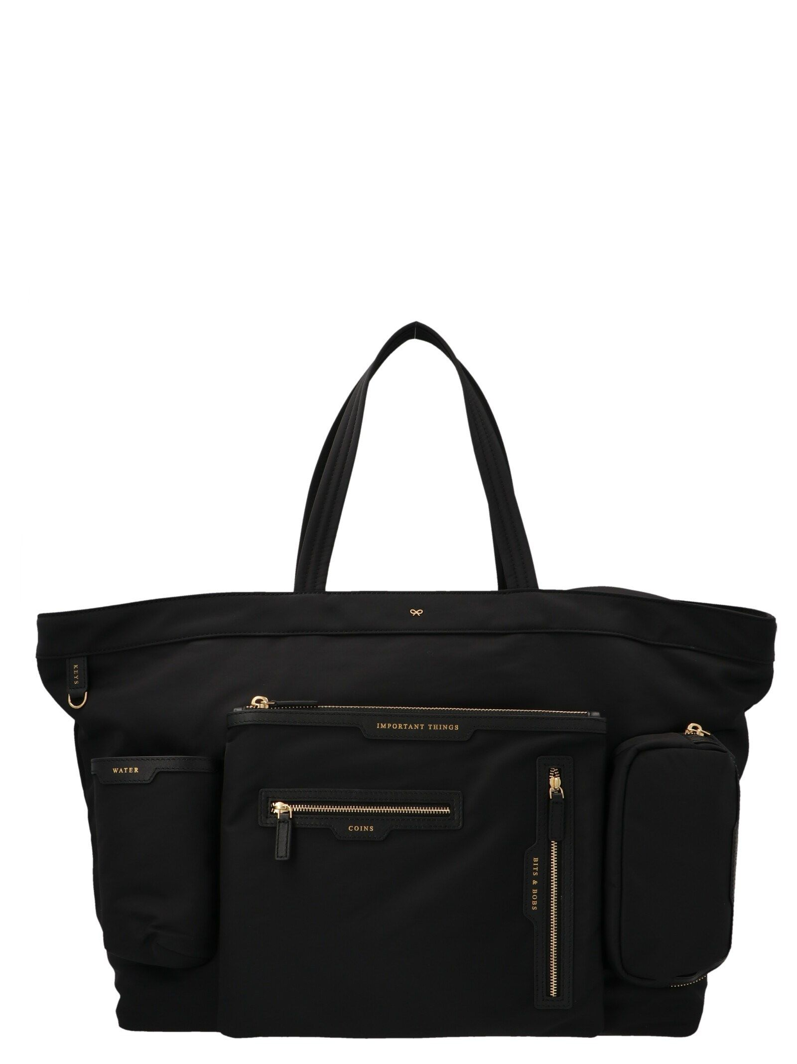 Anya Hindmarch ANYA HINDMARCH WOMEN'S 152655BLACK BLACK OTHER MATERIALS TOTE