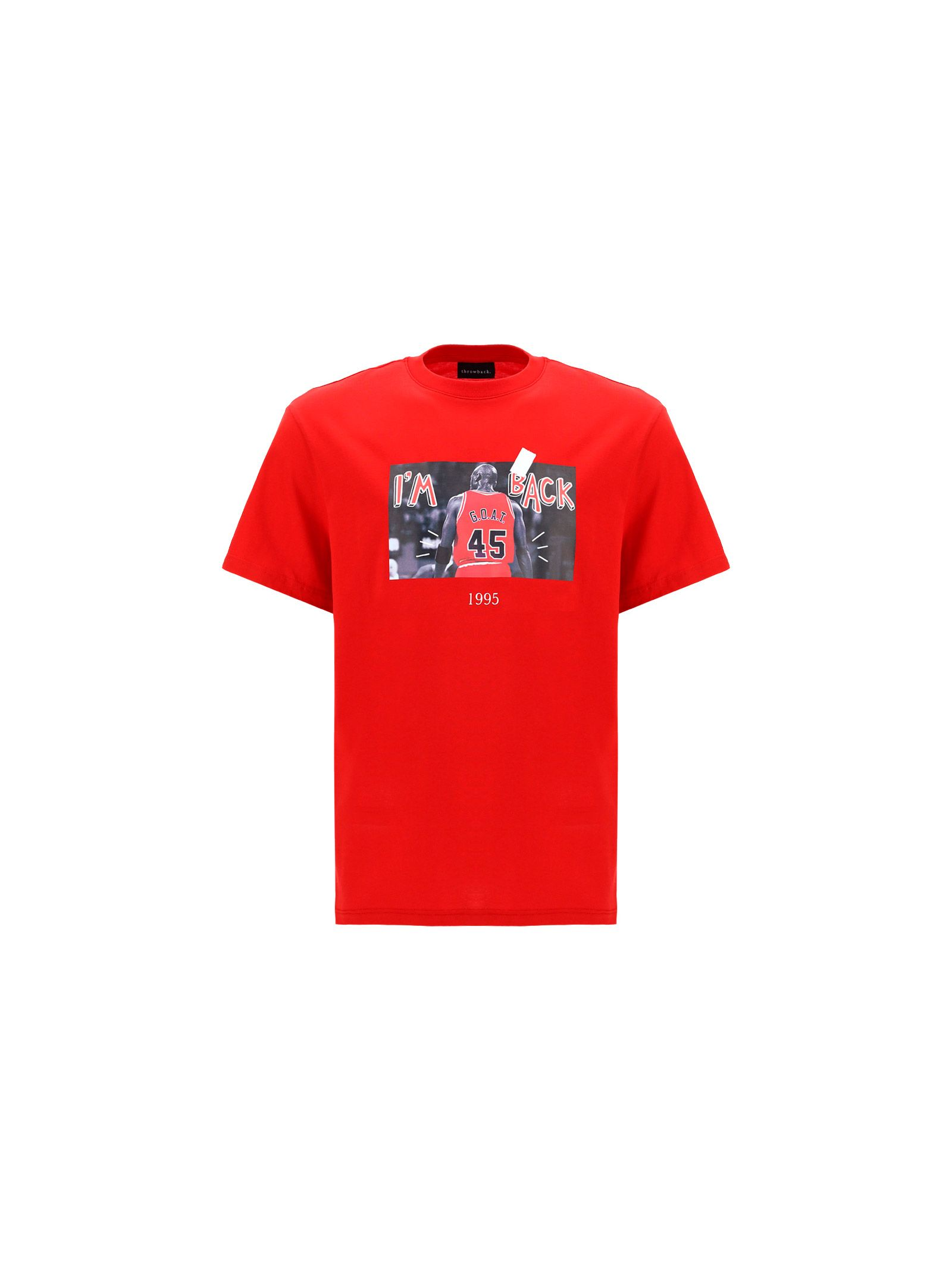 Throwback Cottons THROWBACK. MEN'S TBTGOATRED RED OTHER MATERIALS T-SHIRT