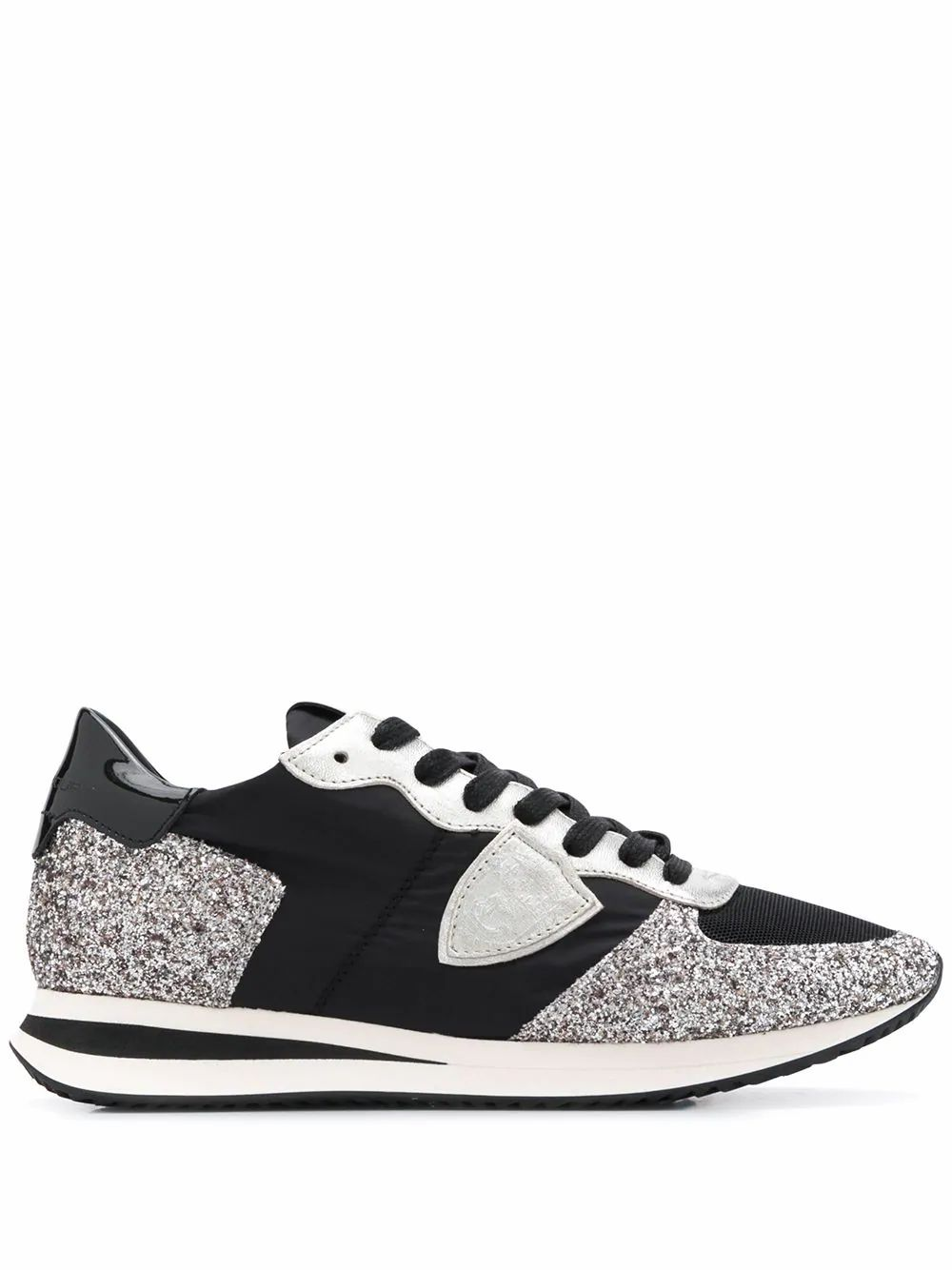 Philippe Model PHILIPPE MODEL WOMEN'S TZLD2100 BLACK LEATHER SNEAKERS