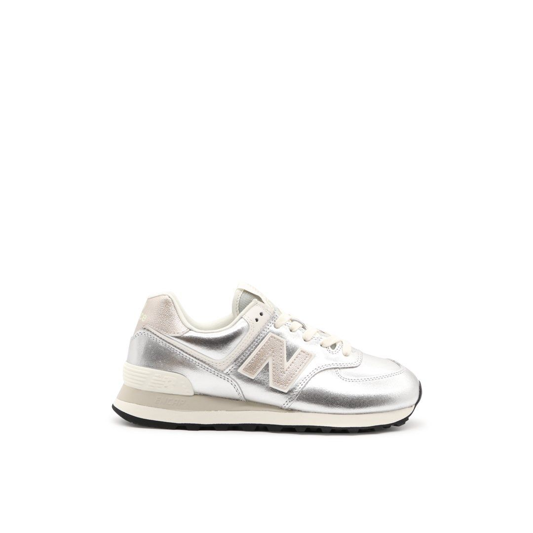 New Balance Leathers NEW BALANCE WOMEN'S WL574PR2 GOLD LEATHER SNEAKERS