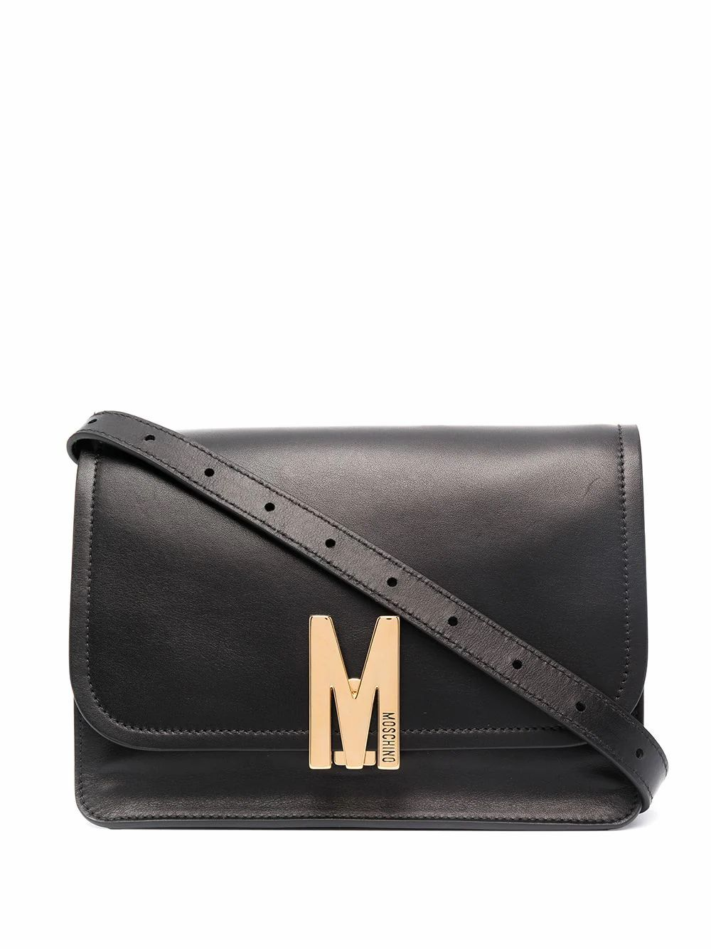 Moschino Leathers MOSCHINO WOMEN'S 749380080555 BLACK LEATHER SHOULDER BAG