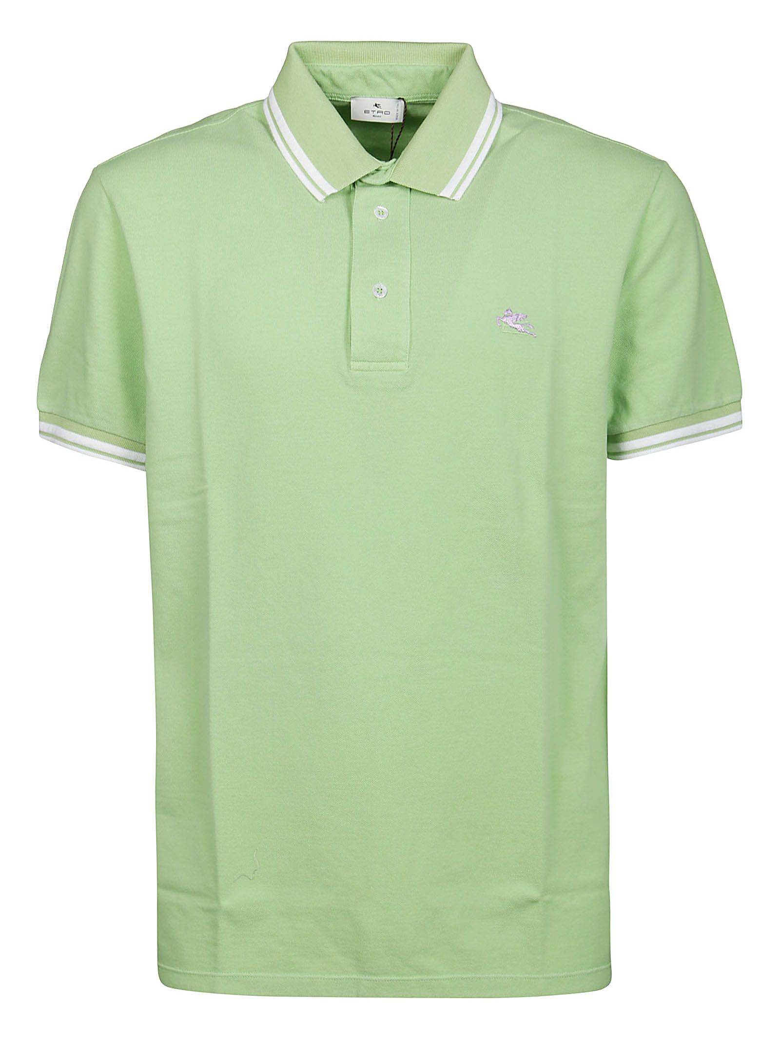 Etro Cottons ETRO MEN'S 1Y80099820501 GREEN OTHER MATERIALS POLO SHIRT
