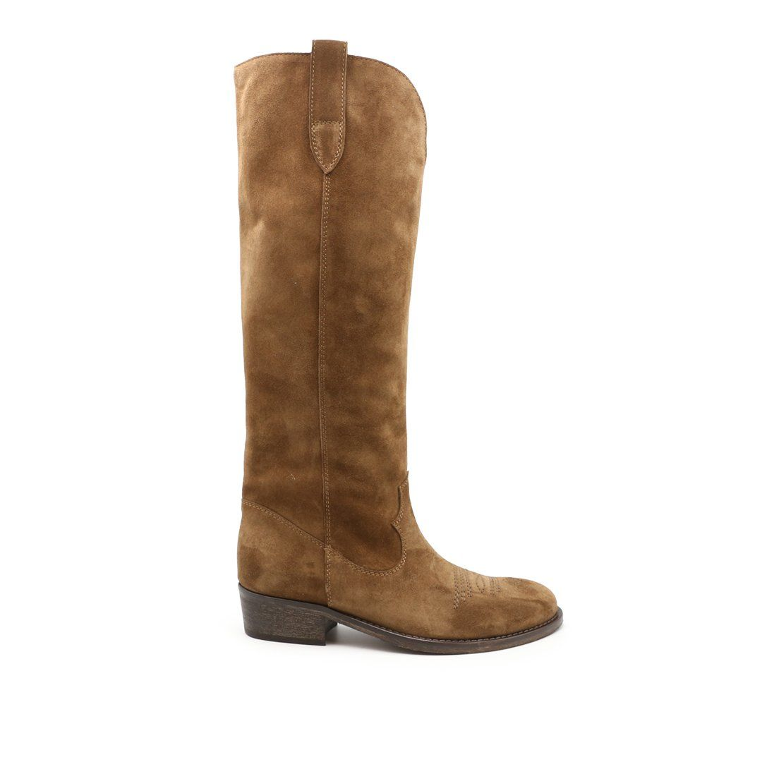 Via Roma 15 VIA ROMA 15 WOMEN'S 3514BROWN BROWN SUEDE BOOTS