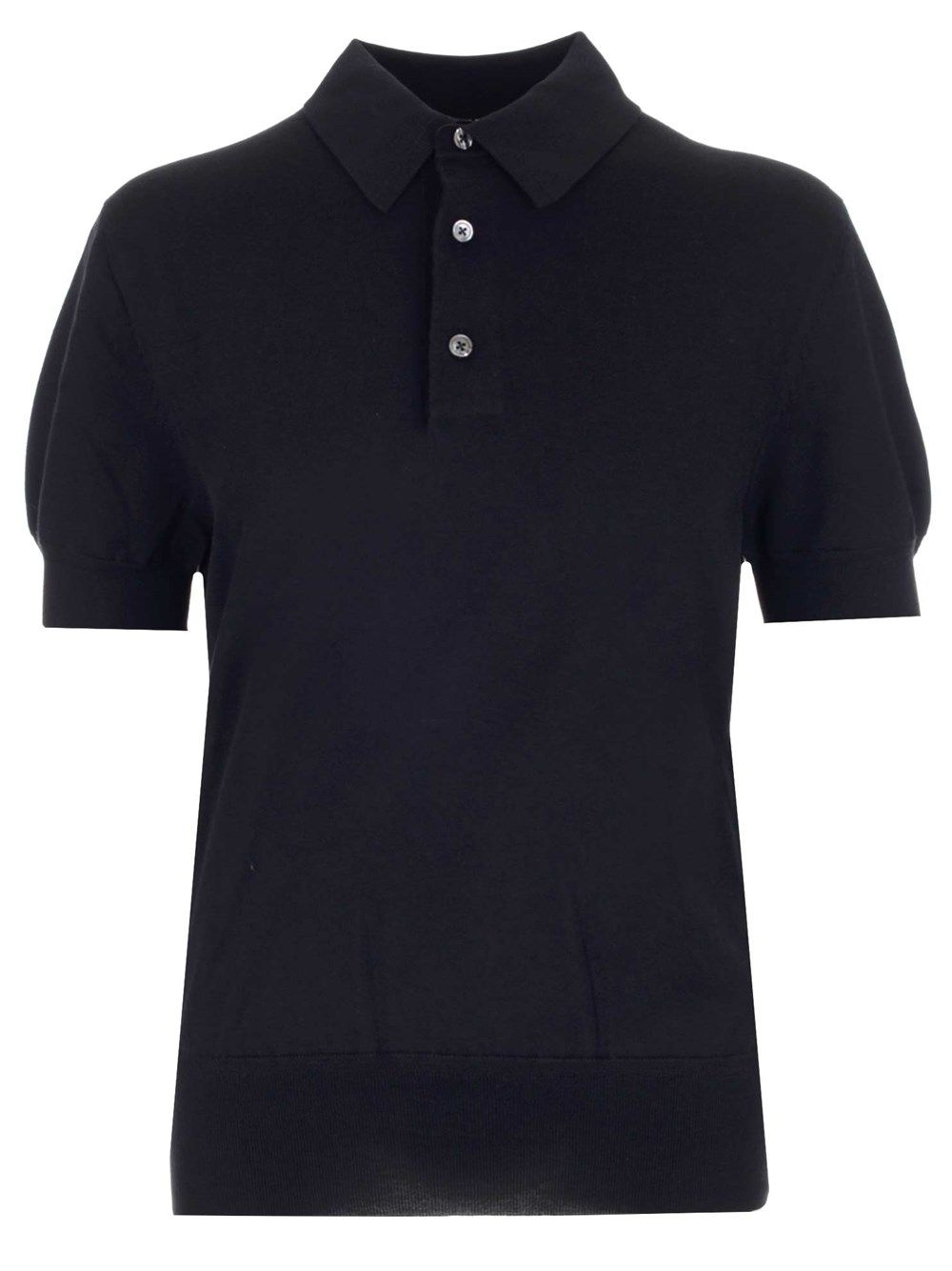 Tom Ford Cottons TOM FORD MEN'S BWC00TFKC33B09 BLUE OTHER MATERIALS POLO SHIRT
