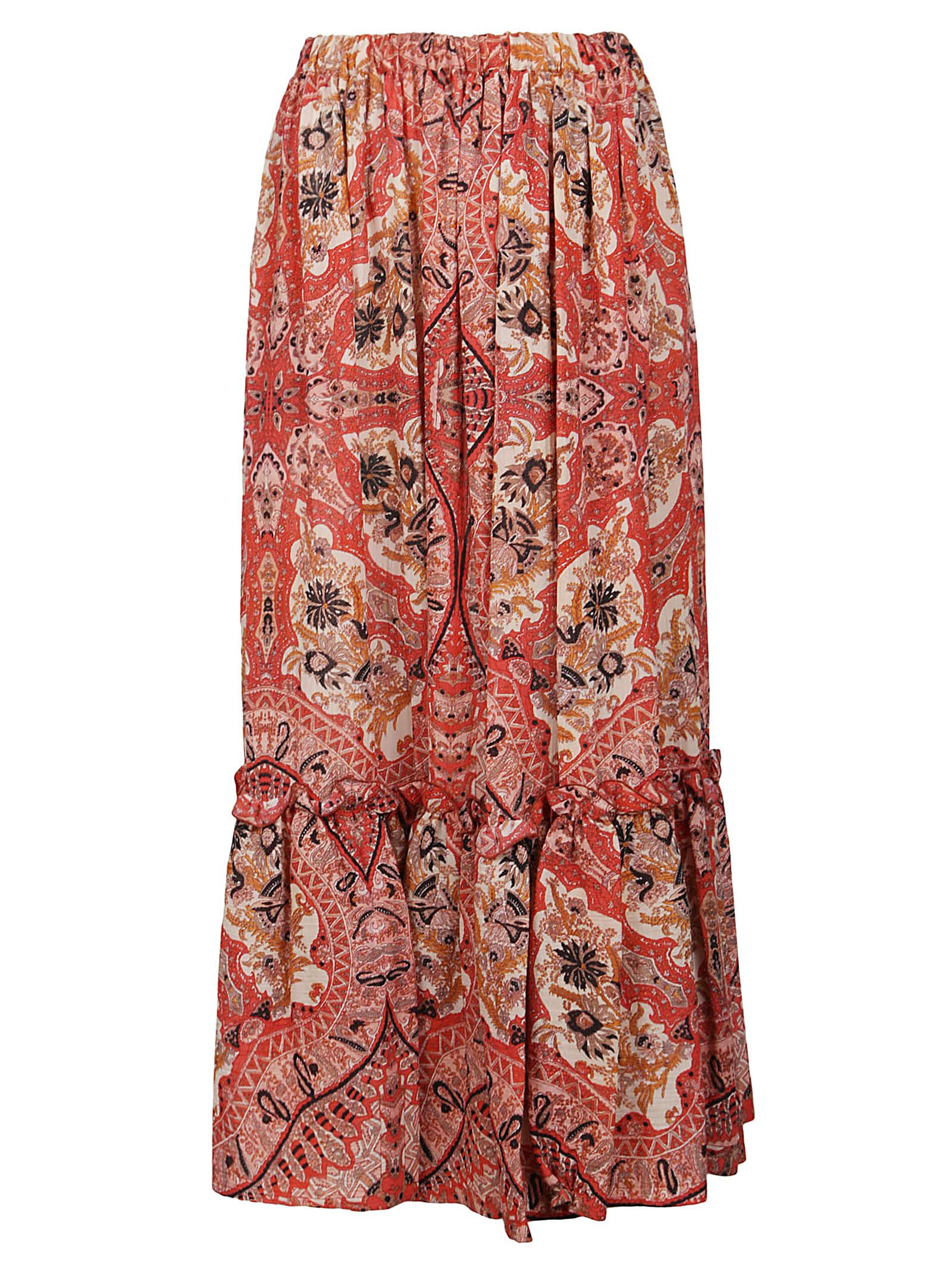 Etro Cottons ETRO WOMEN'S 1415343120600 RED OTHER MATERIALS SKIRT