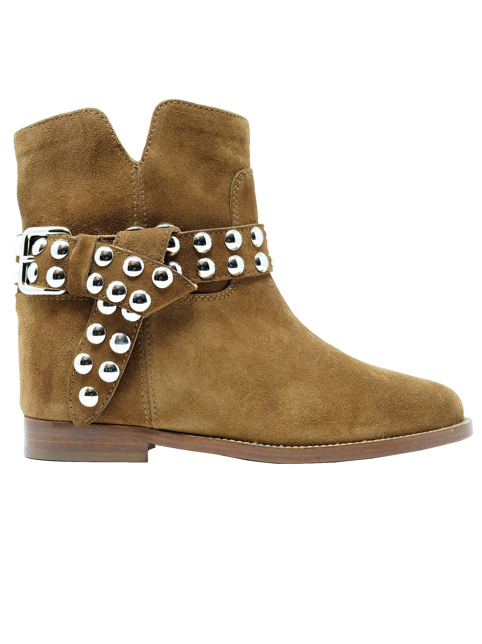 Via Roma 15 VIA ROMA 15 WOMEN'S 35462BROWN BROWN SUEDE ANKLE BOOTS
