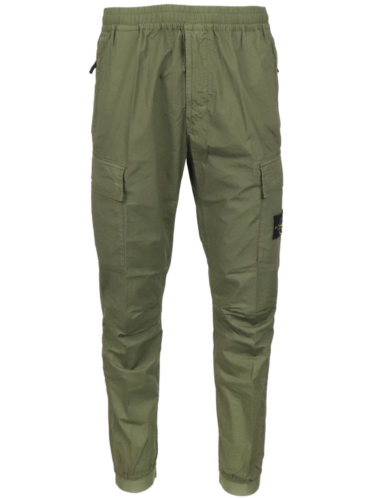 Stone Island Pants STONE ISLAND MEN'S 741531303V0058 GREEN OTHER MATERIALS PANTS
