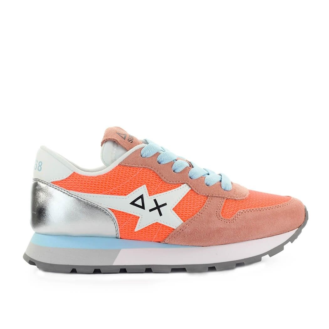 Sun68 SUN 68 WOMEN'S Z3120896 ORANGE LEATHER SNEAKERS