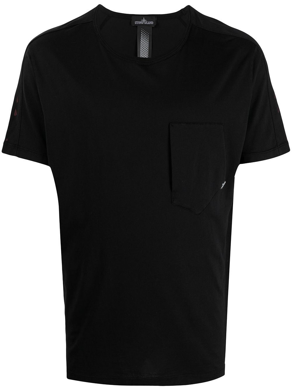 Stone Island Shadow Project STONE ISLAND SHADOW PROJECT MEN'S 741920610V0029 BLACK COTTON T-SHIRT