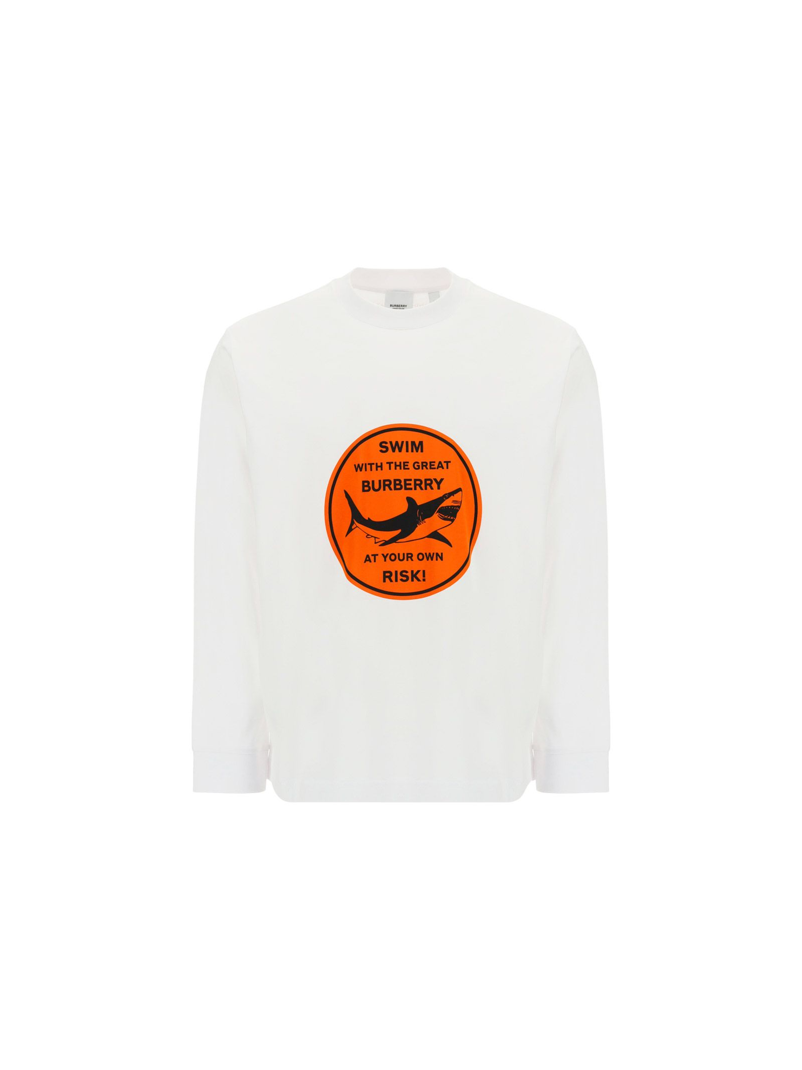 Burberry Cottons BURBERRY MEN'S 8040688WHITE WHITE OTHER MATERIALS SWEATSHIRT