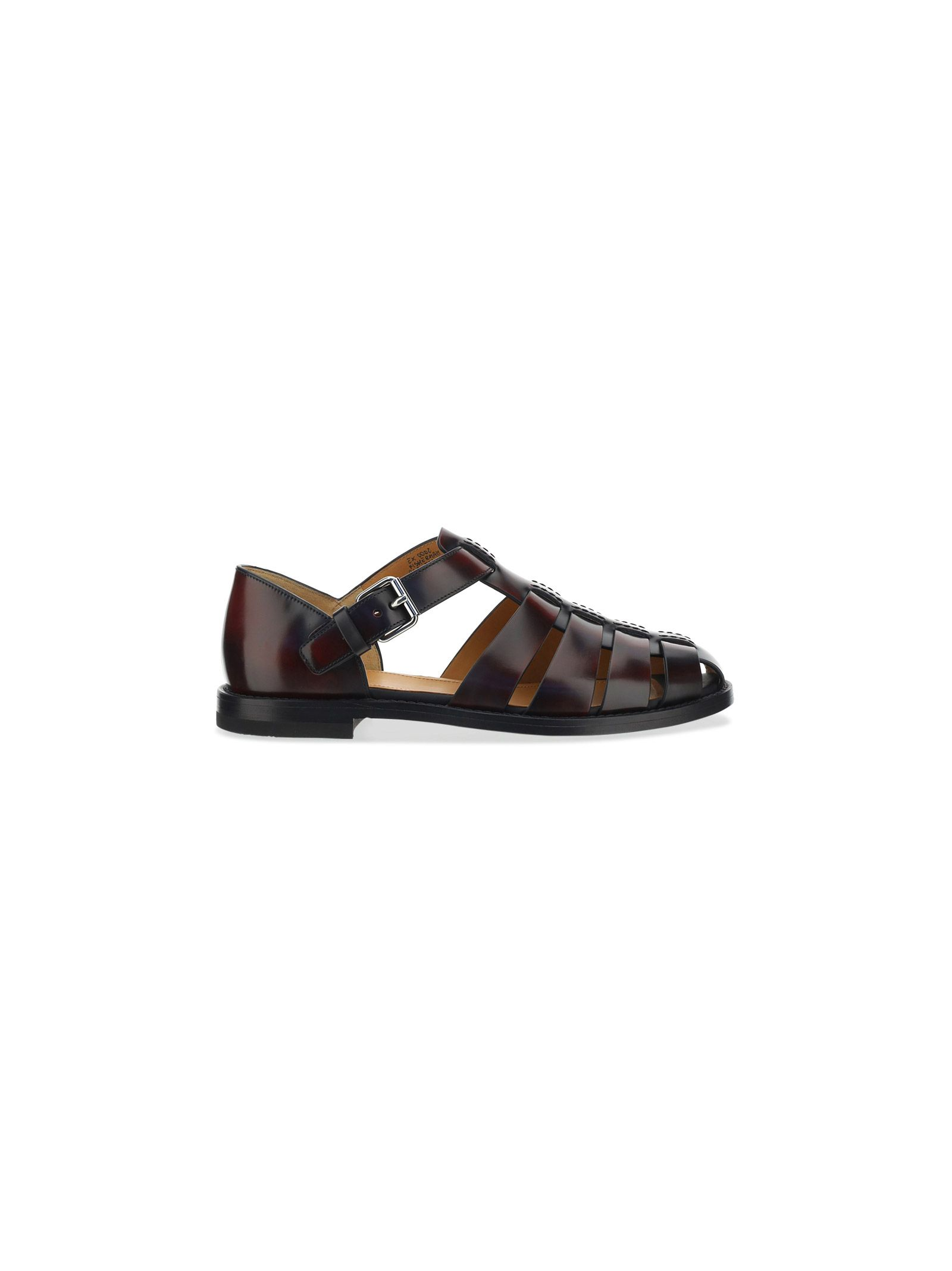 Church's Leathers CHURCH'S MEN'S EX0002FF000009LGF0ADY BURGUNDY OTHER MATERIALS SANDALS