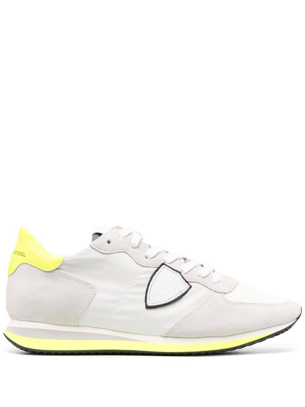 Philippe Model Sports PHILIPPE MODEL MEN'S TZLUWN12 WHITE LEATHER SNEAKERS