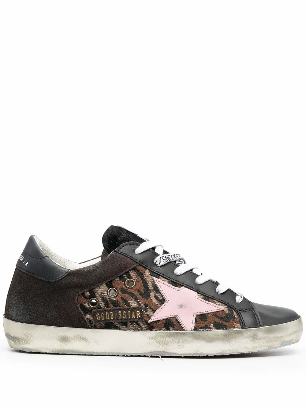 Golden Goose Leathers GOLDEN GOOSE WOMEN'S GWF00103F00019380127 BLACK LEATHER SNEAKERS