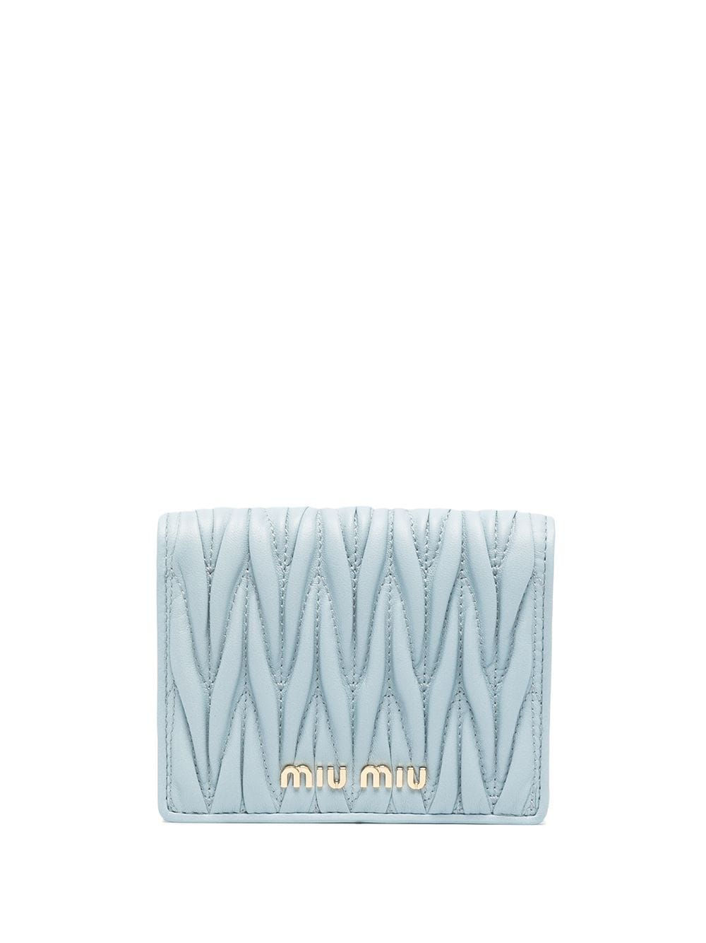 Miu Miu Bag accessorys MIU MIU WOMEN'S 5MV204N88F0012 LIGHT BLUE LEATHER WALLET