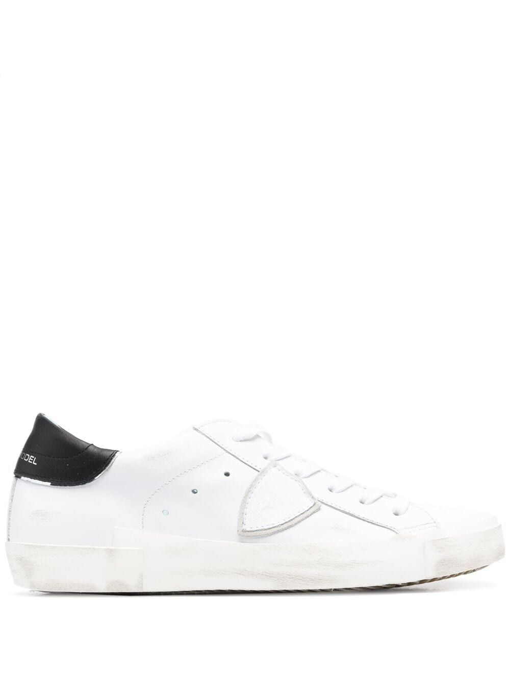 Philippe Model Leathers PHILIPPE MODEL WOMEN'S PRLDV022 WHITE LEATHER SNEAKERS