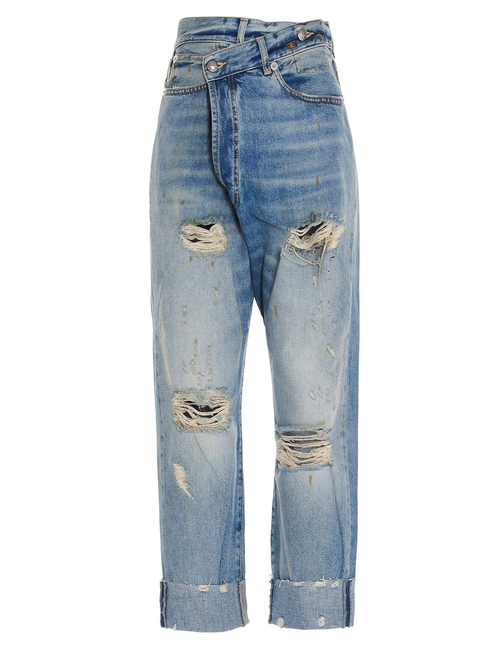 R13 R13 WOMEN'S R13W2048747488A BLUE OTHER MATERIALS JEANS