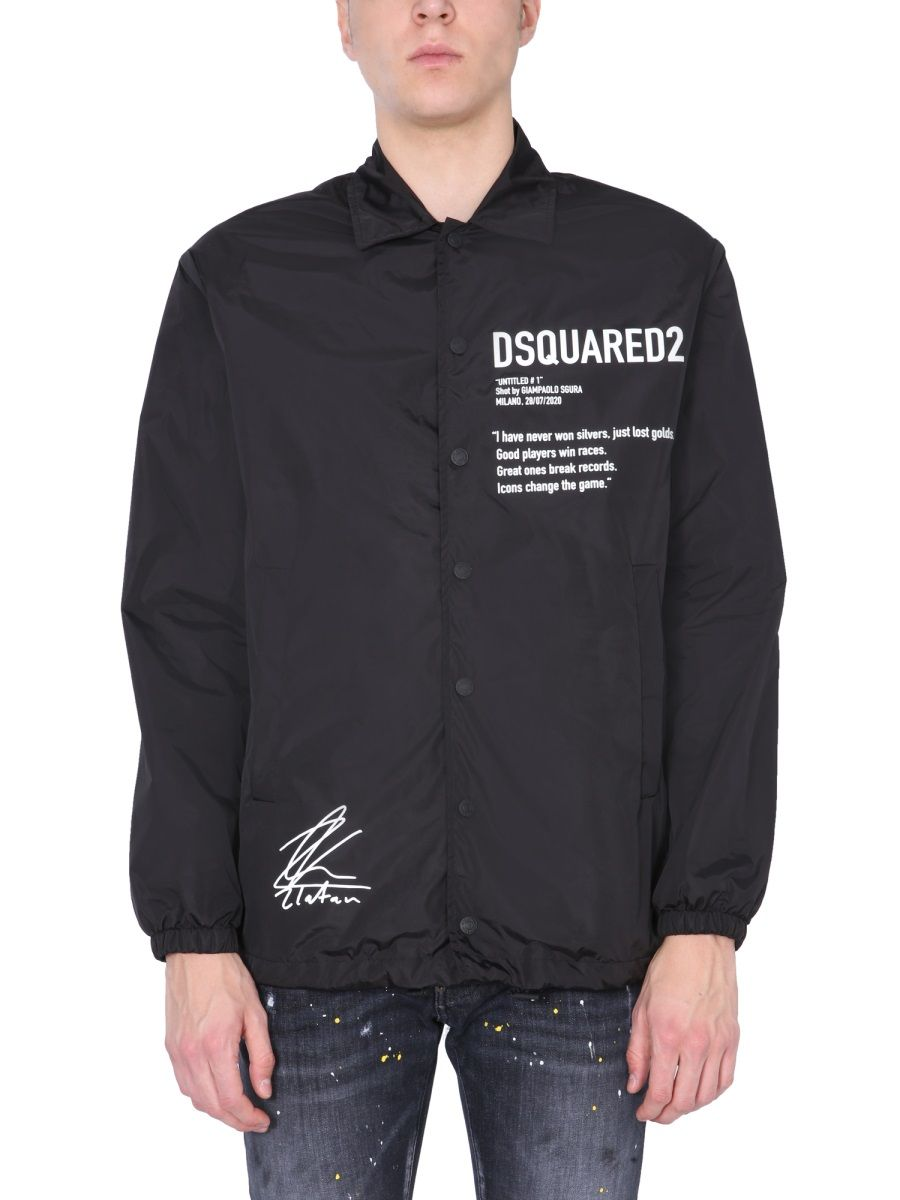 Dsquared2 Jackets DSQUARED2 MEN'S S79AM0021S49197900 BLACK OTHER MATERIALS OUTERWEAR JACKET