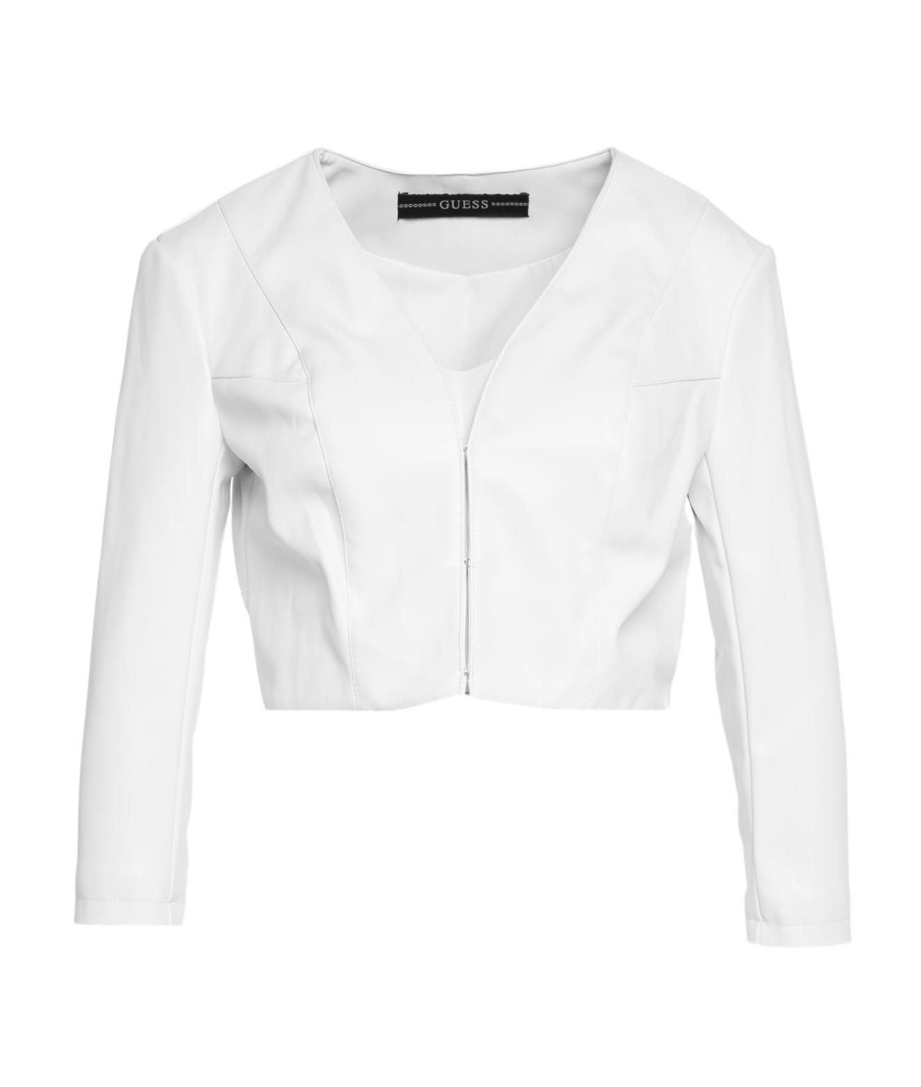 Guess GUESS WOMEN'S W1GL14WAOO011TWHT WHITE OTHER MATERIALS JACKET
