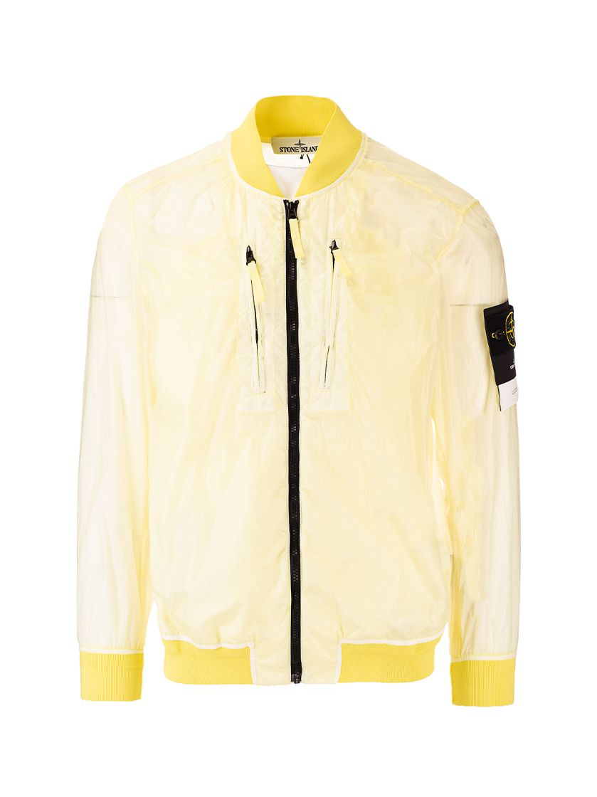 Stone Island Jackets STONE ISLAND MEN'S 741543134V0031 YELLOW OTHER MATERIALS OUTERWEAR JACKET