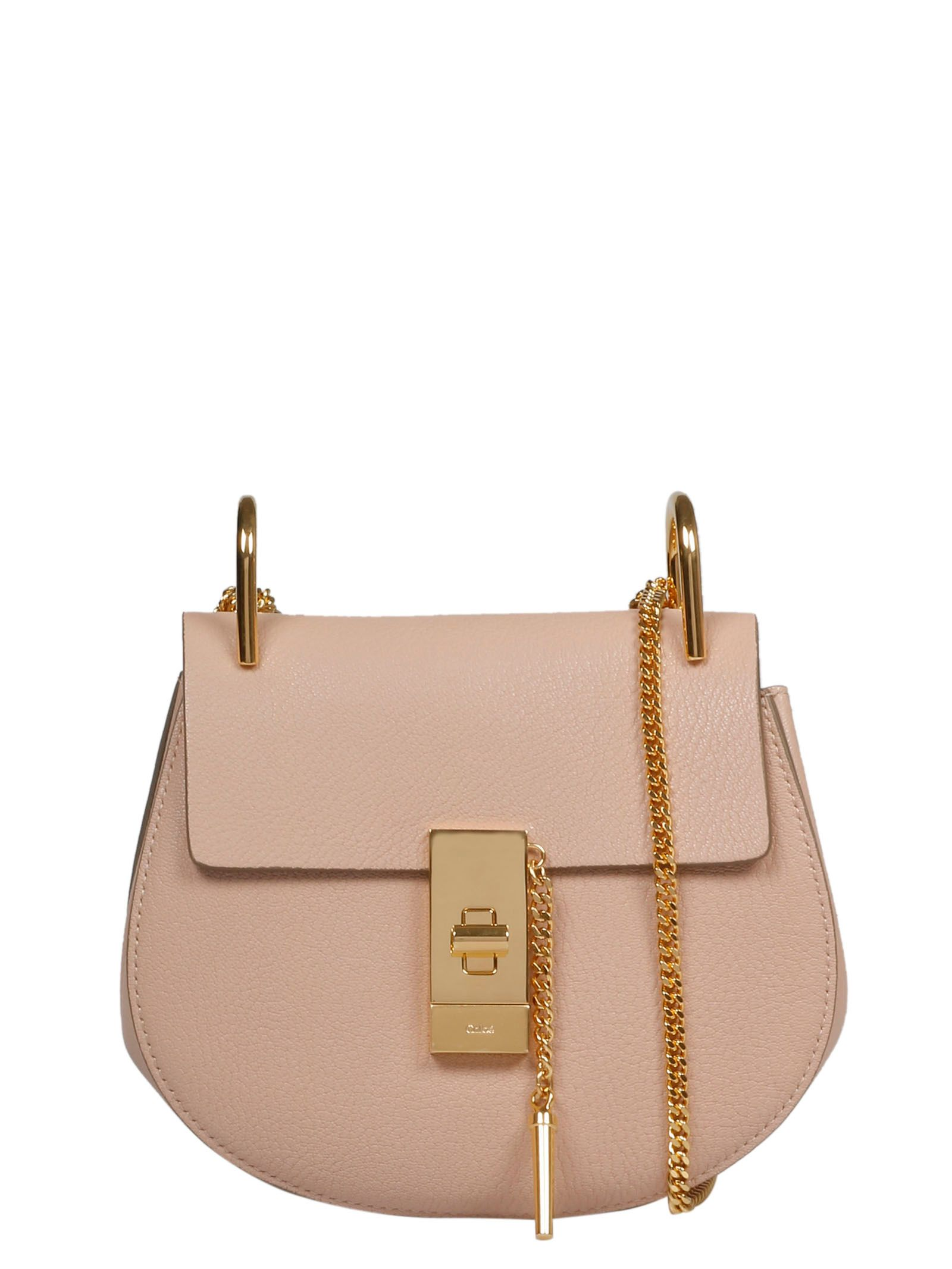 Chloé Leathers CHLO WOMEN'S CHC14WS0329446J5 PINK LEATHER SHOULDER BAG