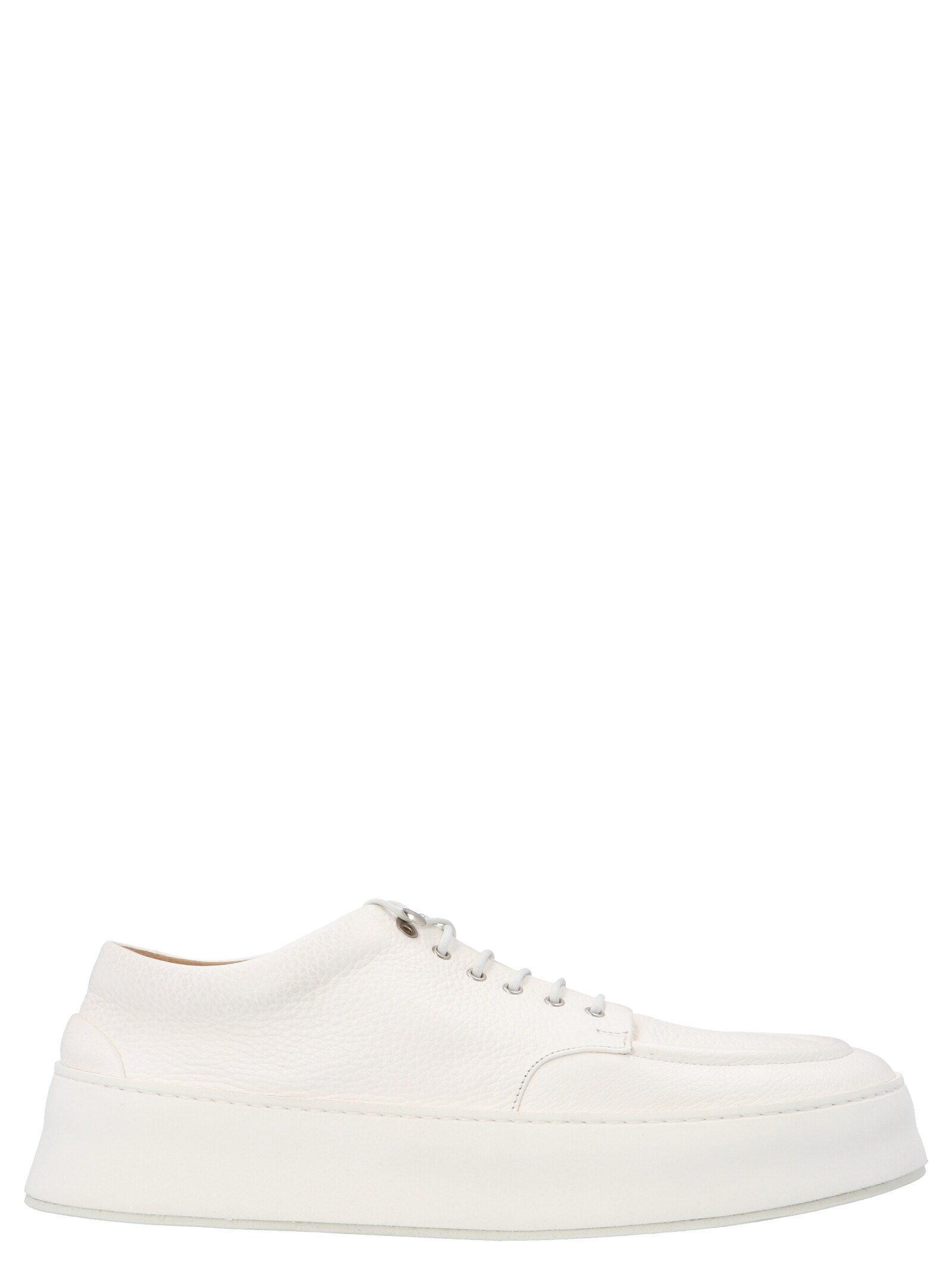 Marsèll Low tops MARSELL MEN'S MM4130188110 WHITE LEATHER SNEAKERS