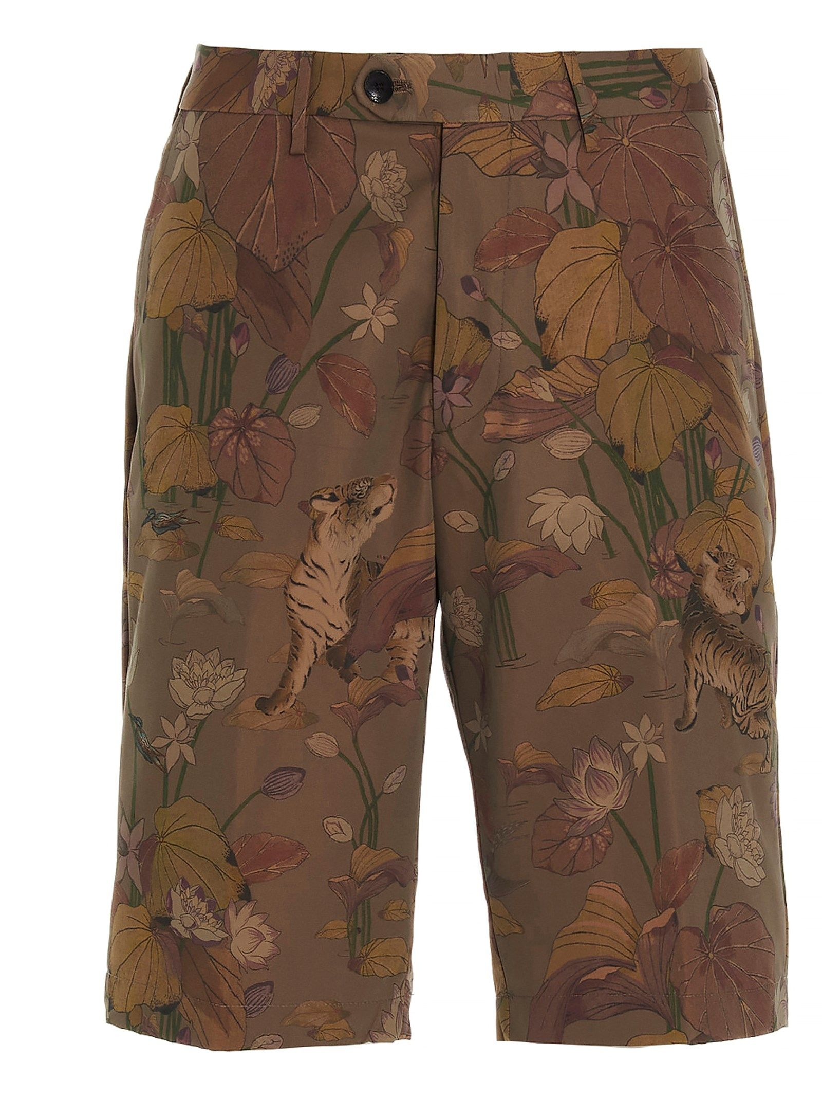 Etro Shorts ETRO MEN'S 1W6564055800 GREEN OTHER MATERIALS SHORTS