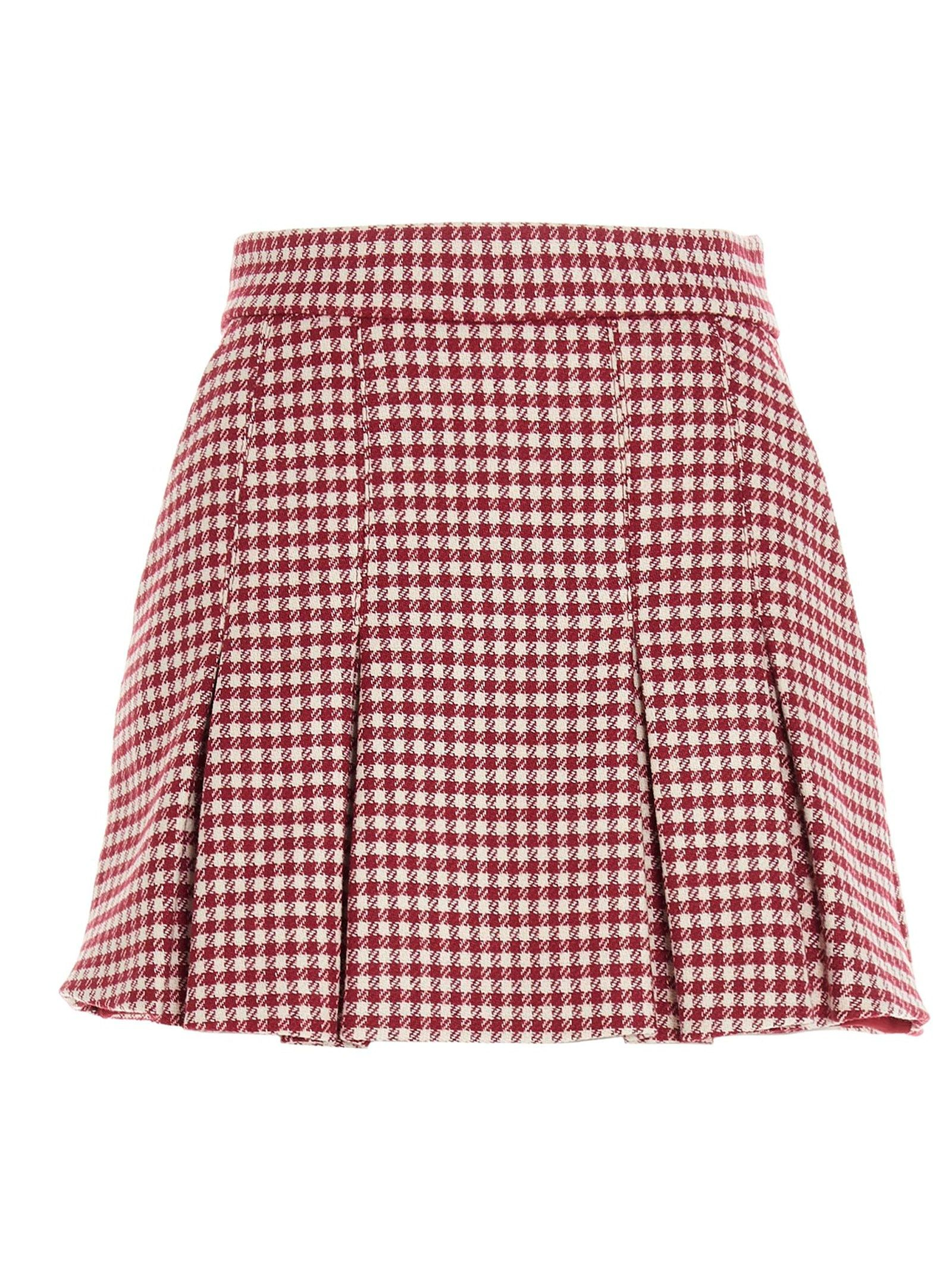 Red Valentino RED VALENTINO WOMEN'S VR3RFE705LH1RM RED OTHER MATERIALS SHORTS