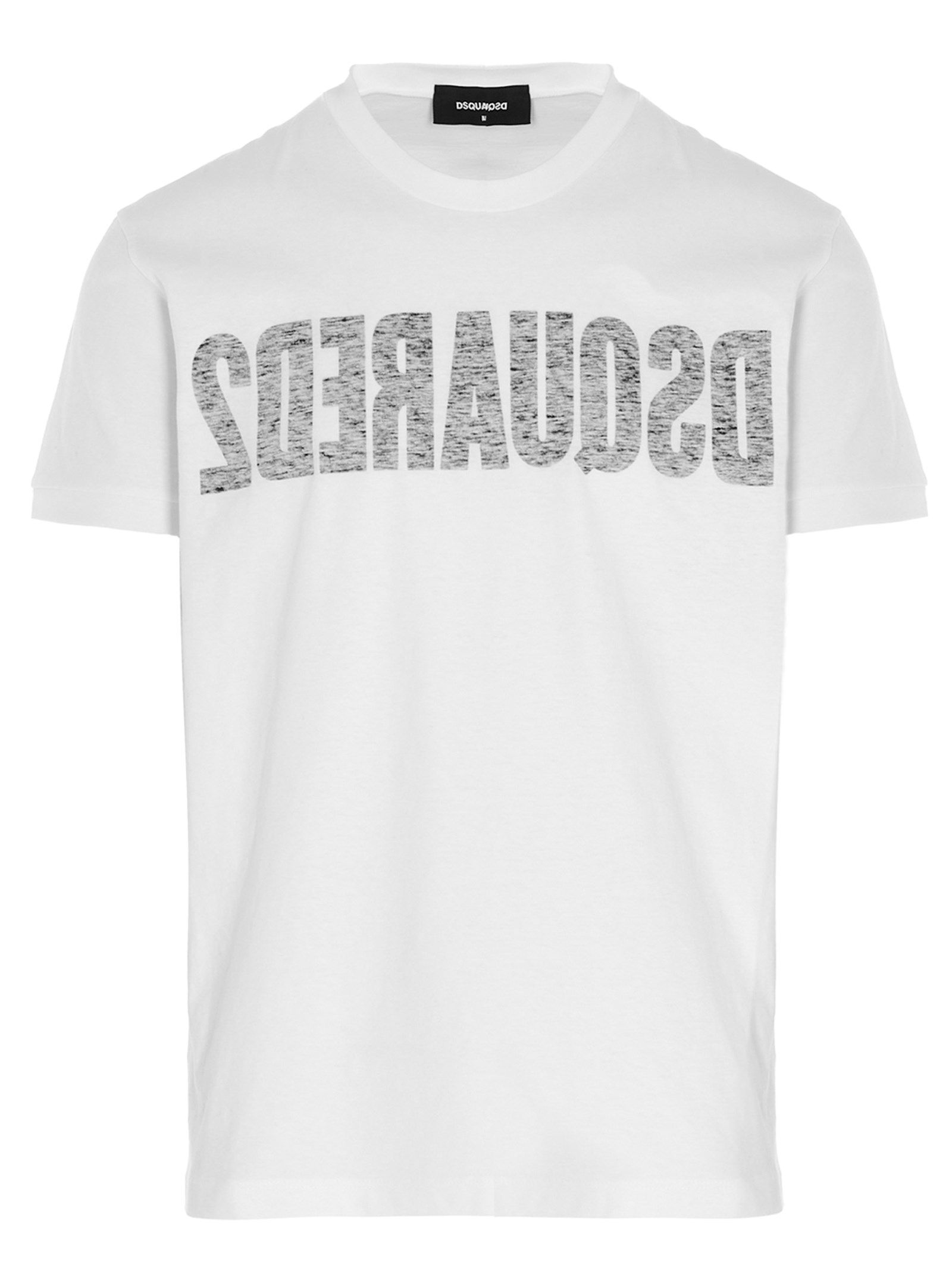 Dsquared2 Cottons DSQUARED2 MEN'S S71GD1049S22507100 WHITE OTHER MATERIALS T-SHIRT