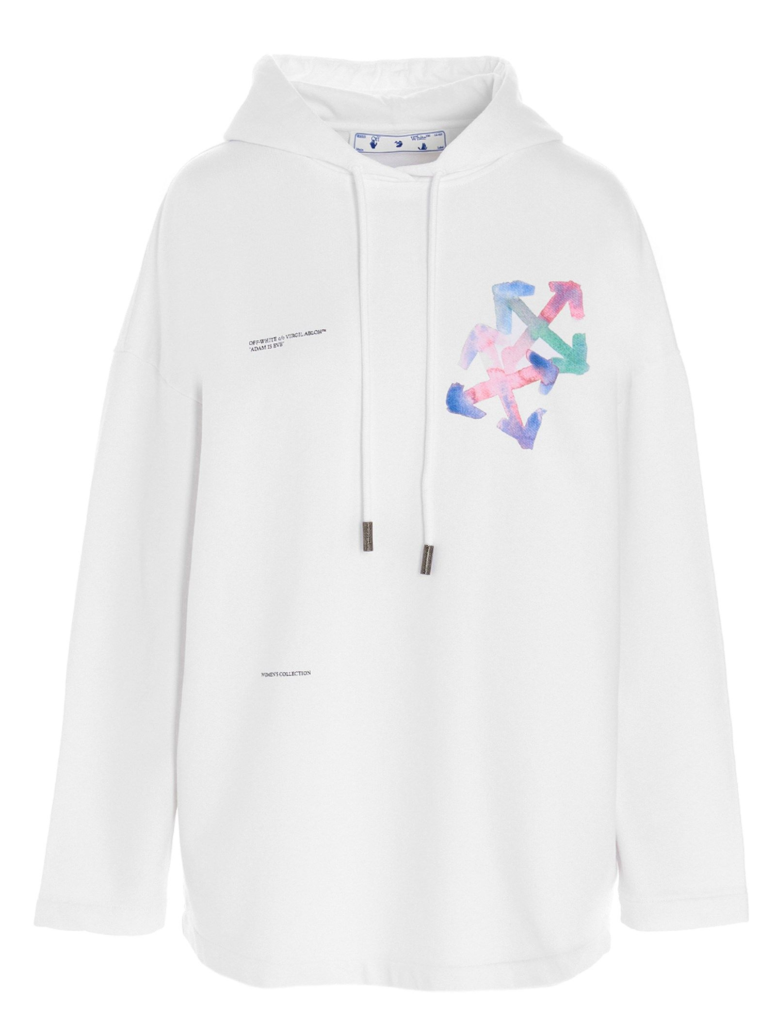 Off-White OFF-WHITE WOMEN'S OWBB040S21JER0010184 WHITE OTHER MATERIALS SWEATSHIRT