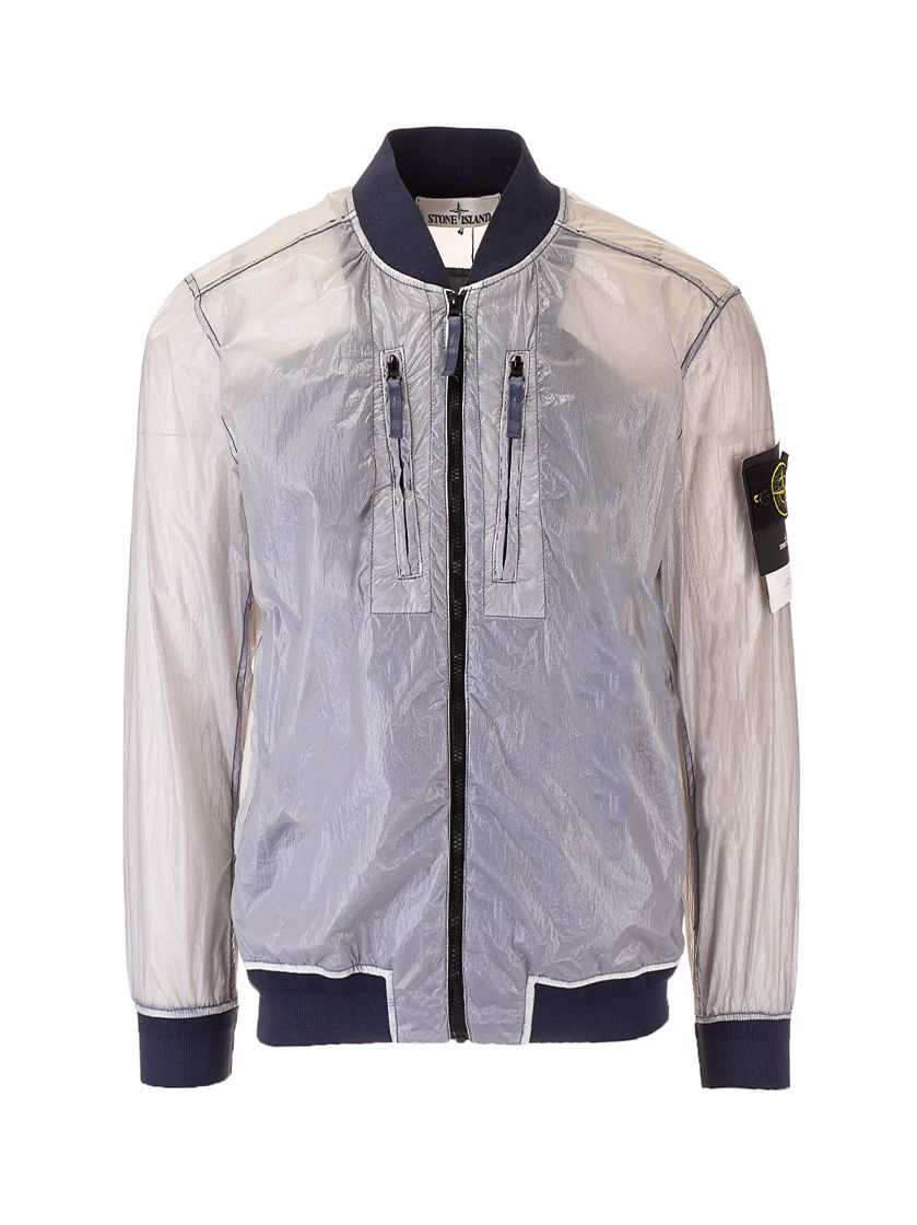 Stone Island Jackets STONE ISLAND MEN'S 741543134V0046 BLUE OTHER MATERIALS OUTERWEAR JACKET