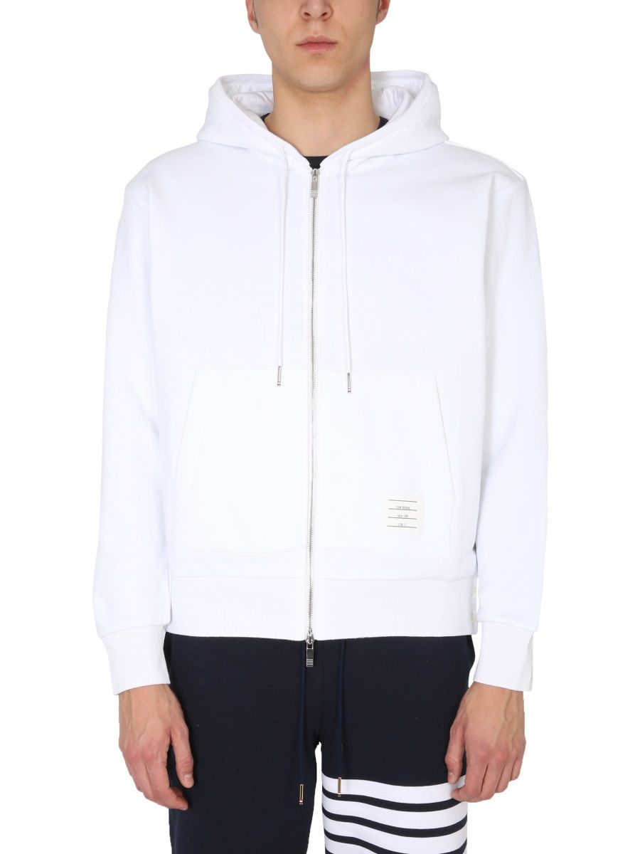 Thom Browne Cottons THOM BROWNE MEN'S MJT153A03377100 WHITE OTHER MATERIALS SWEATSHIRT