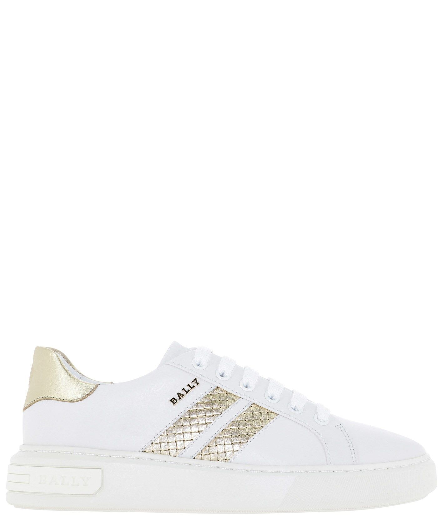 Bally BALLY WOMEN'S 6237820MARCUSIWPLATINOWHI GOLD OTHER MATERIALS SNEAKERS