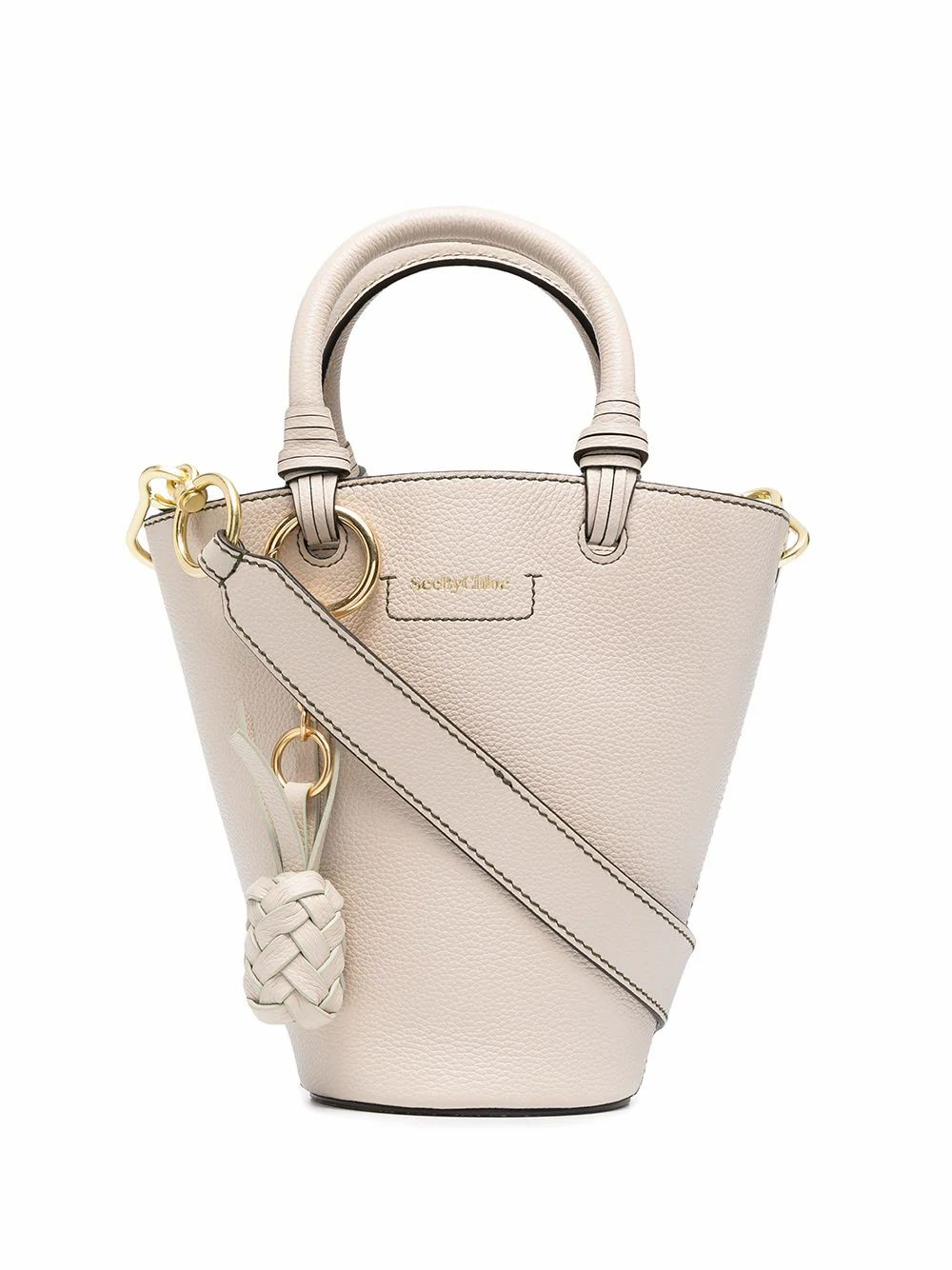 See By Chloé Leathers SEE BY CHLO WOMEN'S CHS21SSB0591224H BEIGE LEATHER HANDBAG
