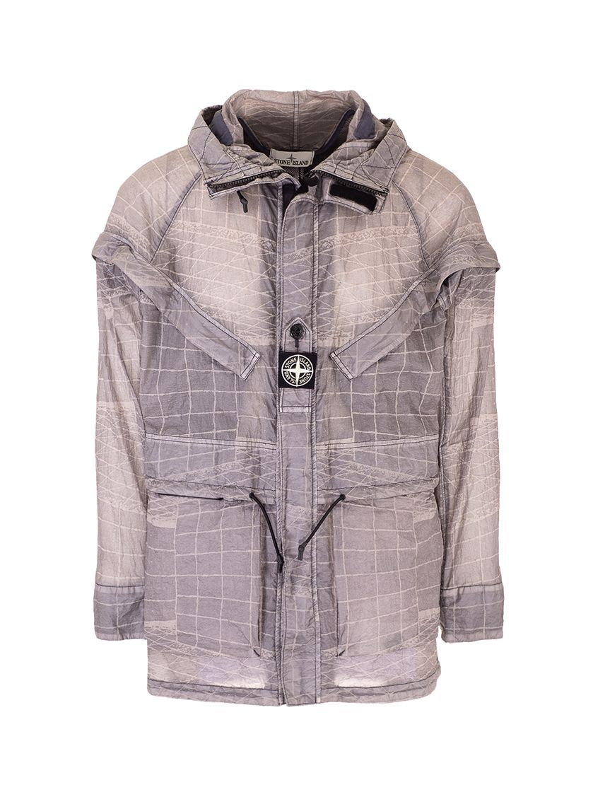 Stone Island Jackets STONE ISLAND MEN'S 741542999V0063 BLUE OTHER MATERIALS OUTERWEAR JACKET