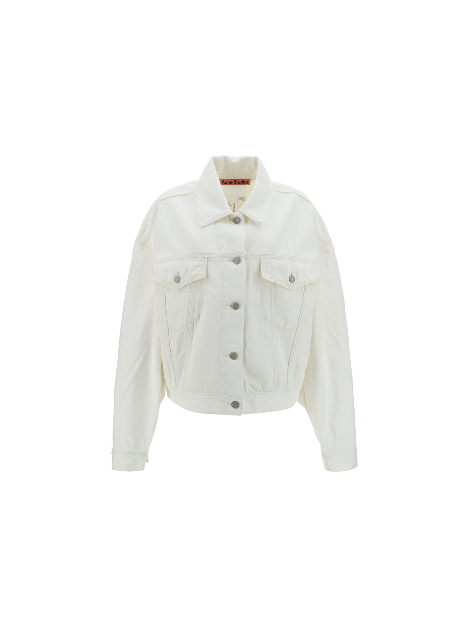 Acne Studios Cottons ACNE STUDIOS WOMEN'S A90354100 WHITE OTHER MATERIALS JACKET