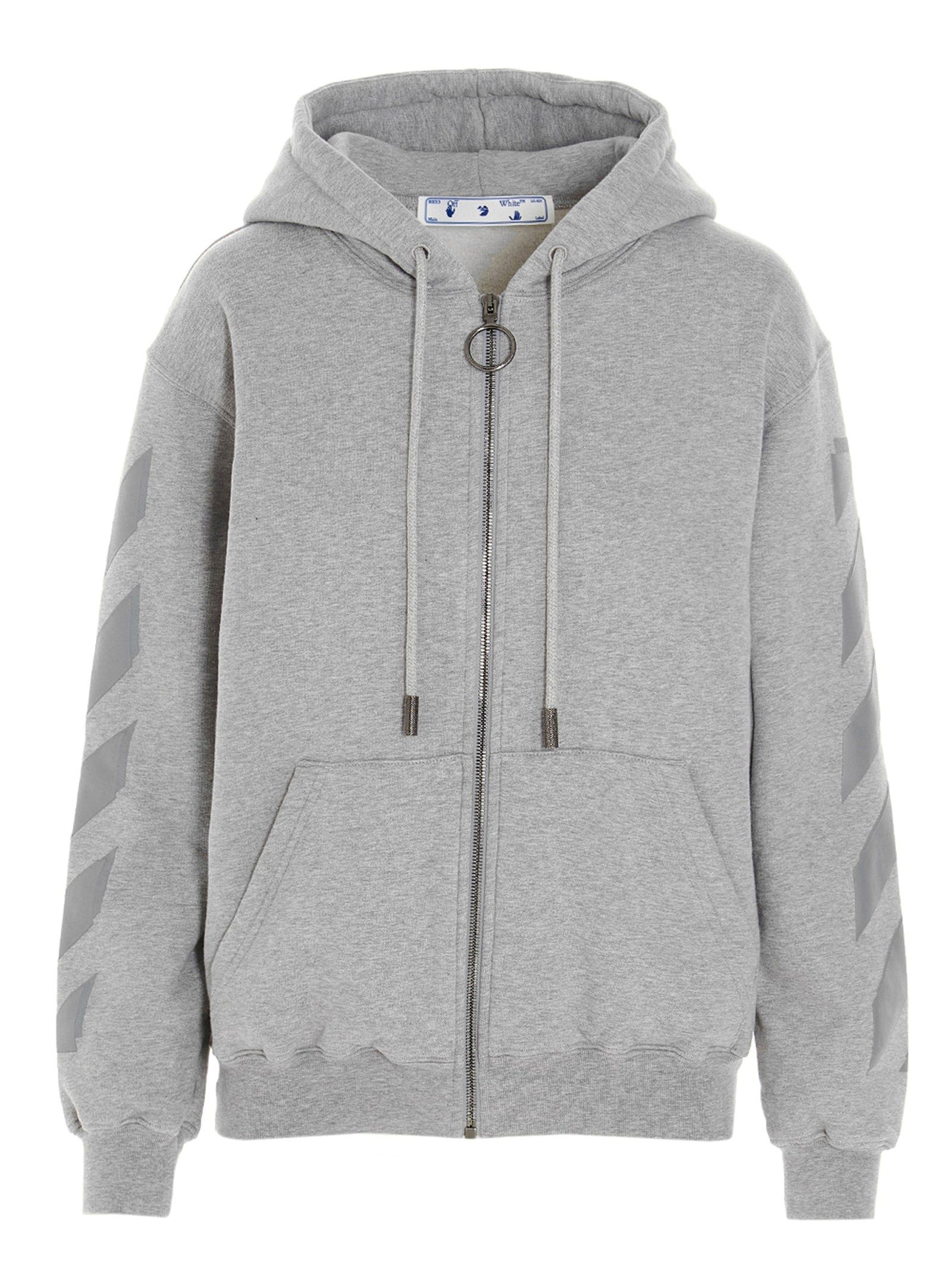 Off-White Sweatshirts OFF-WHITE WOMEN'S OWBE005S21JER0010808 GREY OTHER MATERIALS SWEATSHIRT