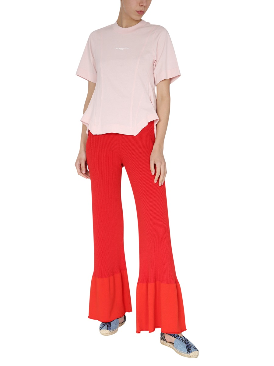Stella Mccartney RIBBED KNIT TROUSERS