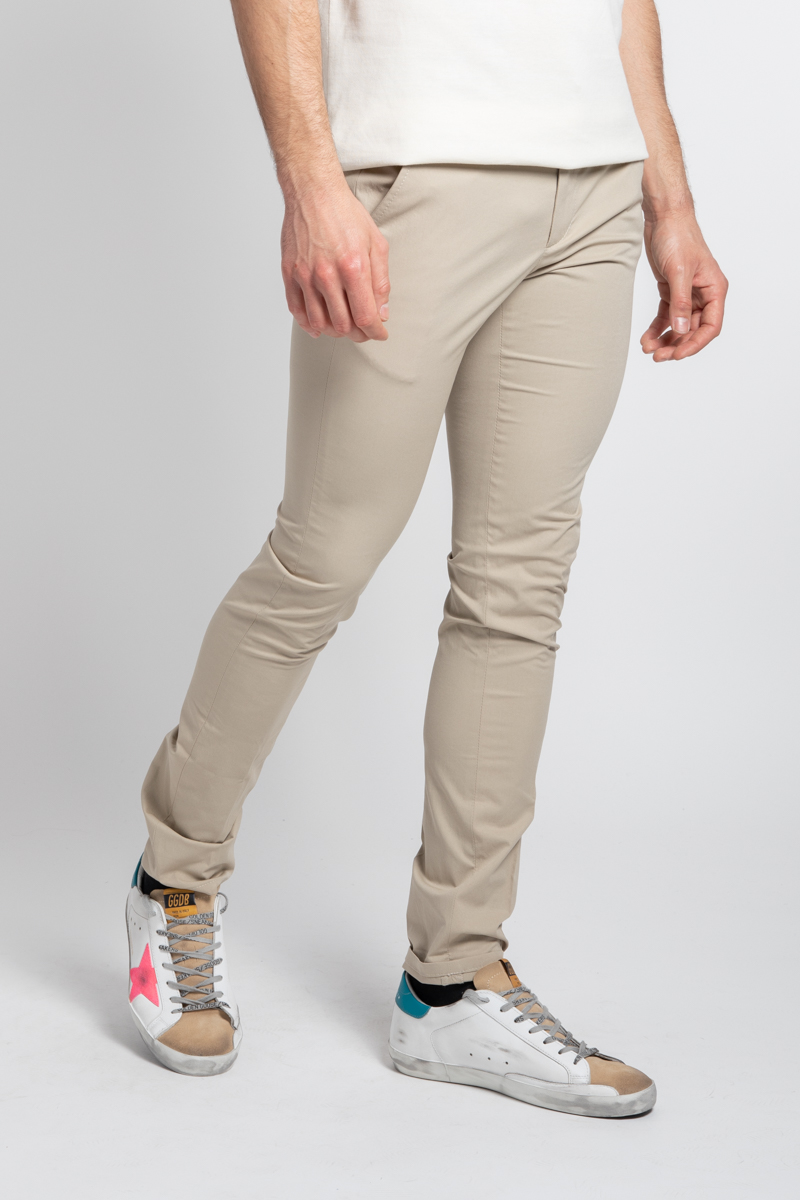 Dondup TROUSERS BEIGE