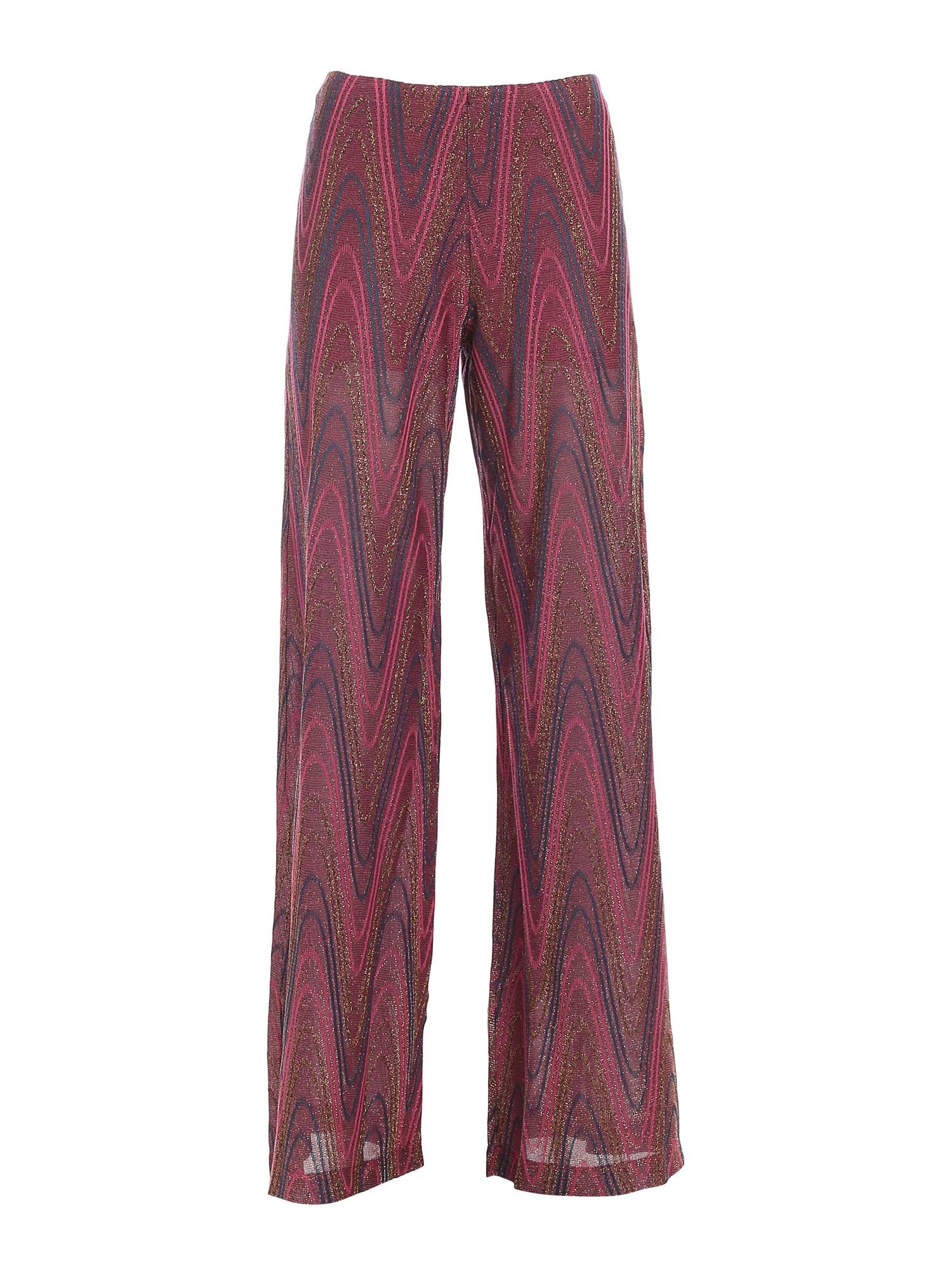 M Missoni LAM KNITTED PANTS IN PURPLE