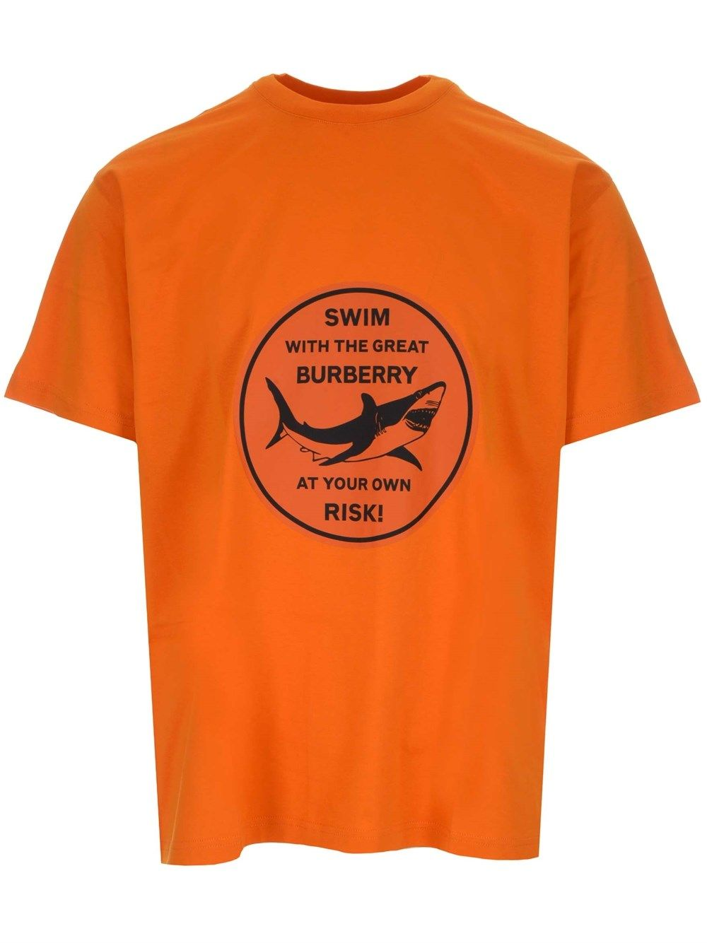 Burberry Cottons BURBERRY MEN'S 8040676 ORANGE OTHER MATERIALS T-SHIRT