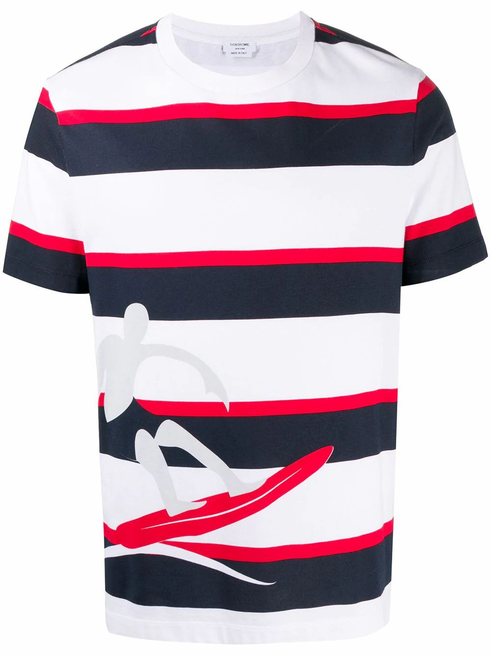Thom Browne Cottons THOM BROWNE MEN'S MJS140A07248996 WHITE COTTON T-SHIRT