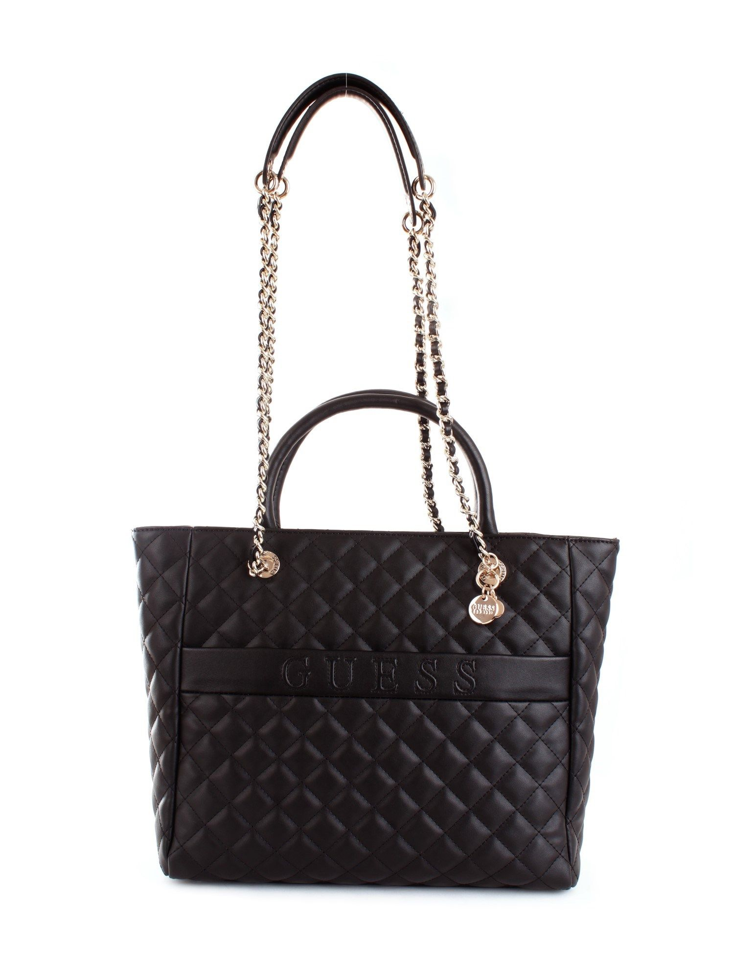 Guess GUESS WOMEN'S HWVG7970230BLACK BLACK SYNTHETIC FIBERS TOTE