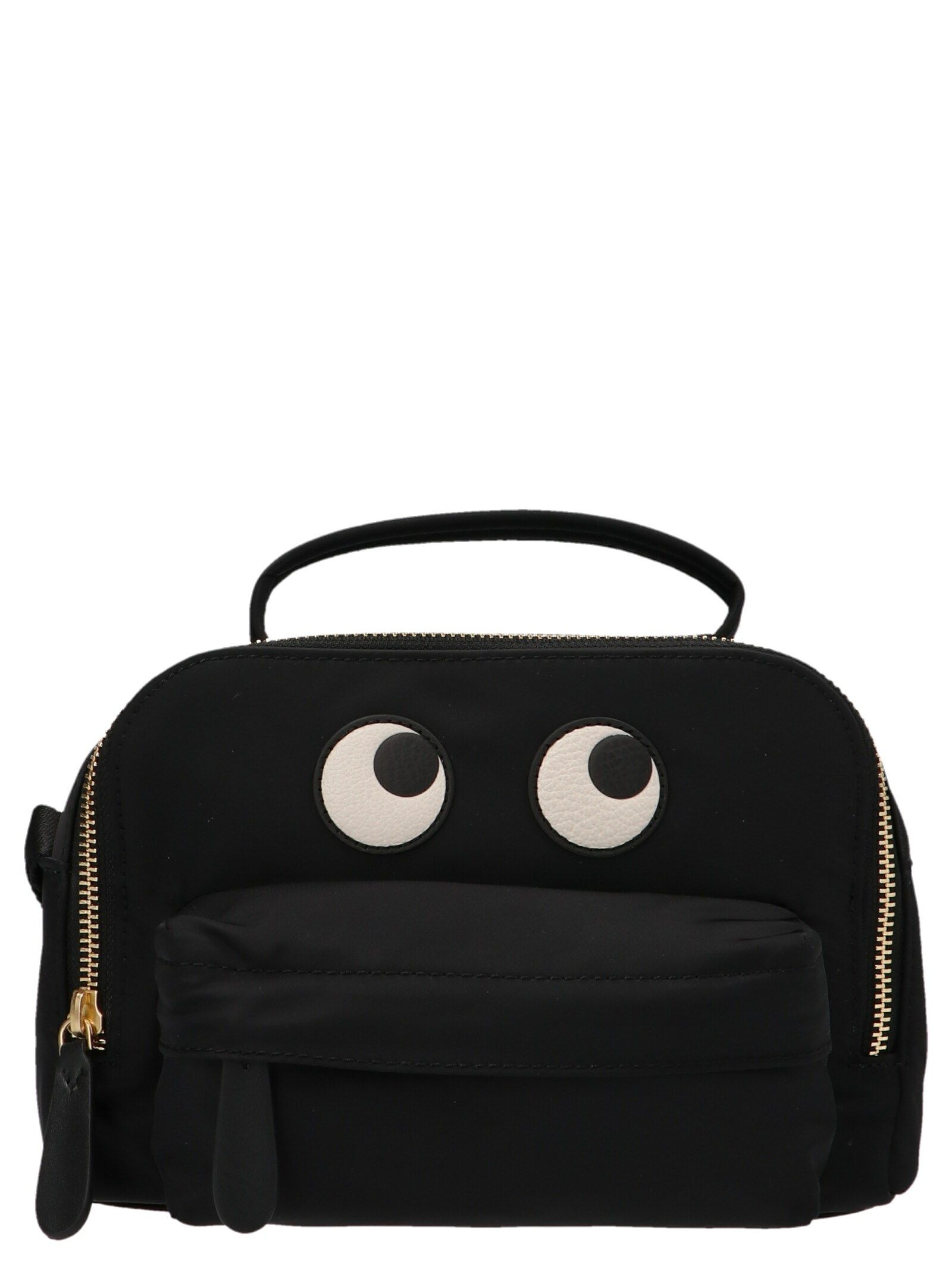Anya Hindmarch ANYA HINDMARCH WOMEN'S 152969BLACK BLACK OTHER MATERIALS HANDBAG
