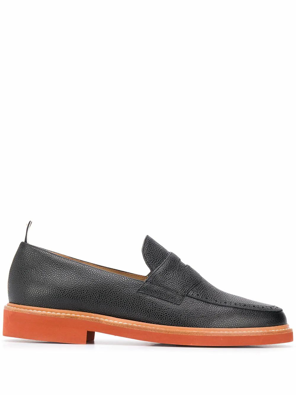 Thom Browne THOM BROWNE MEN'S MFD214A06257001 BLACK LEATHER LOAFERS