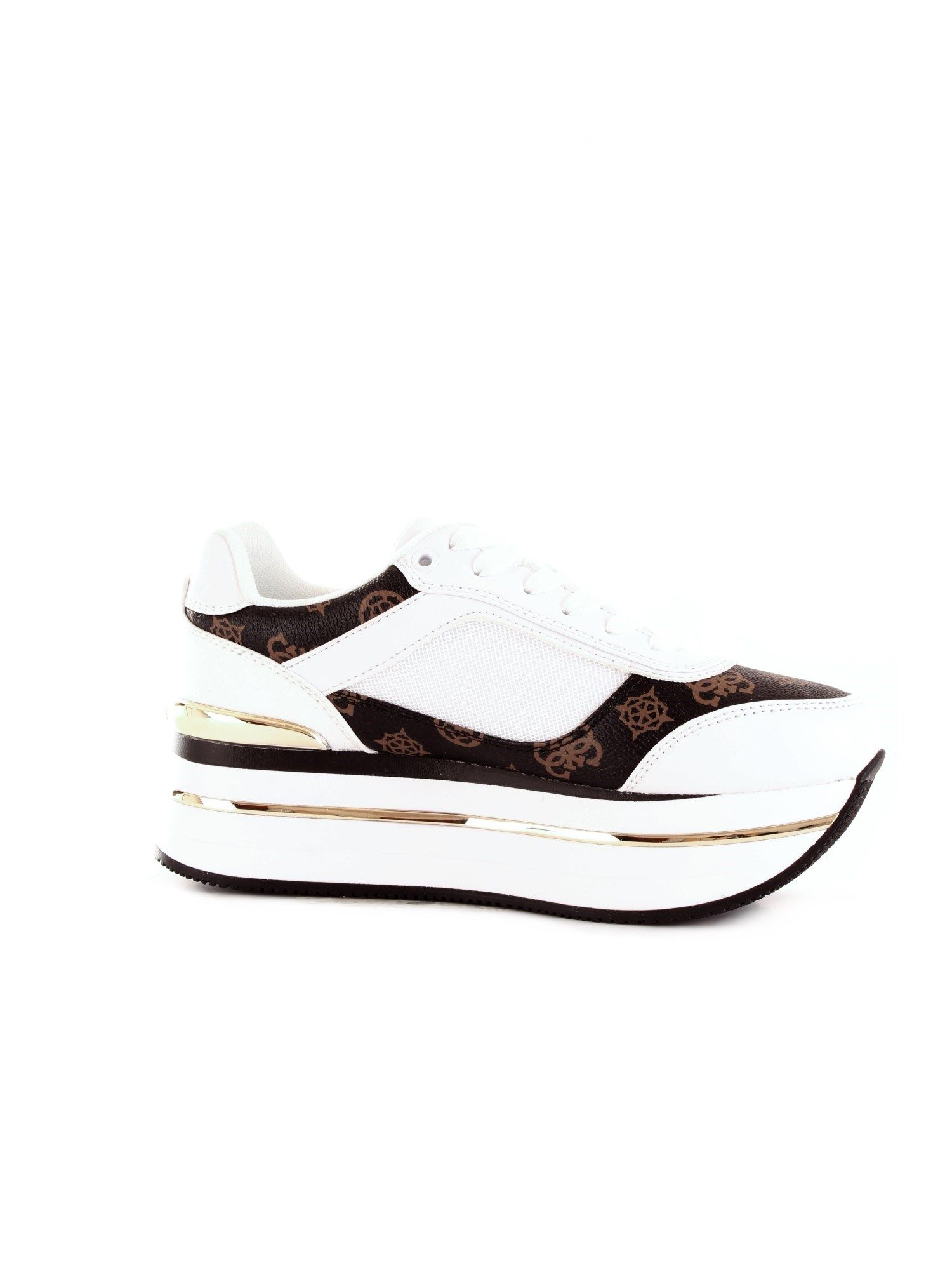 Guess GUESS WOMEN'S FL5HNSFAL12WHITE WHITE SYNTHETIC FIBERS SNEAKERS